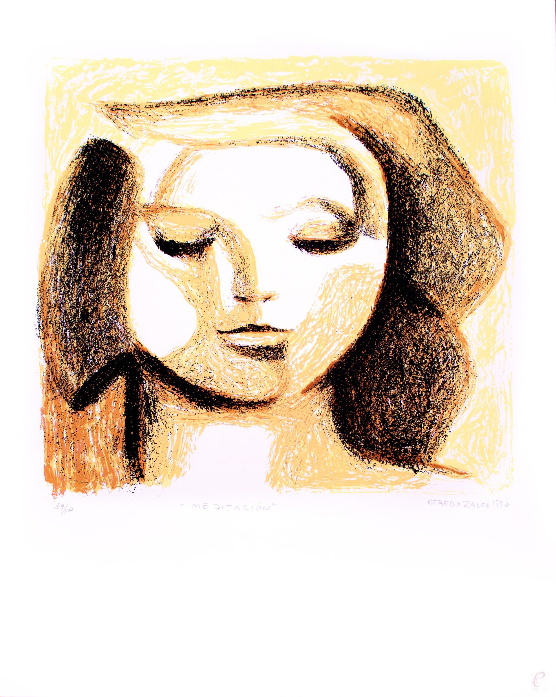 Meditación by Alfredo Zalce (1908 - 2003)