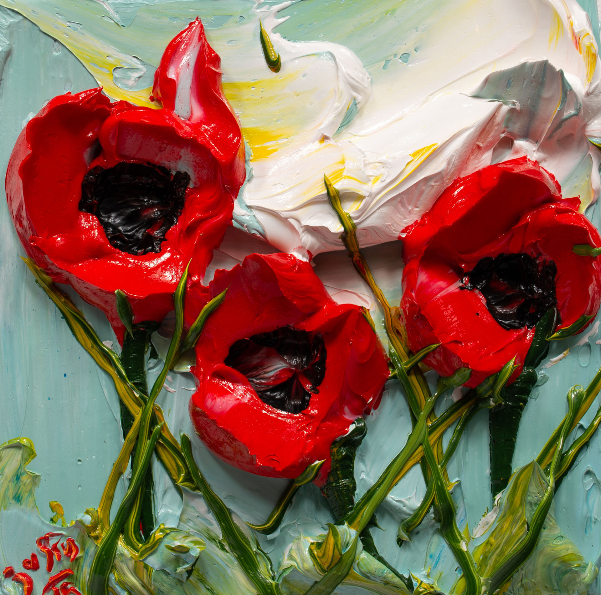 POPPY FLOWERS-PF-12X12-2019-179 by JUSTIN GAFFREY