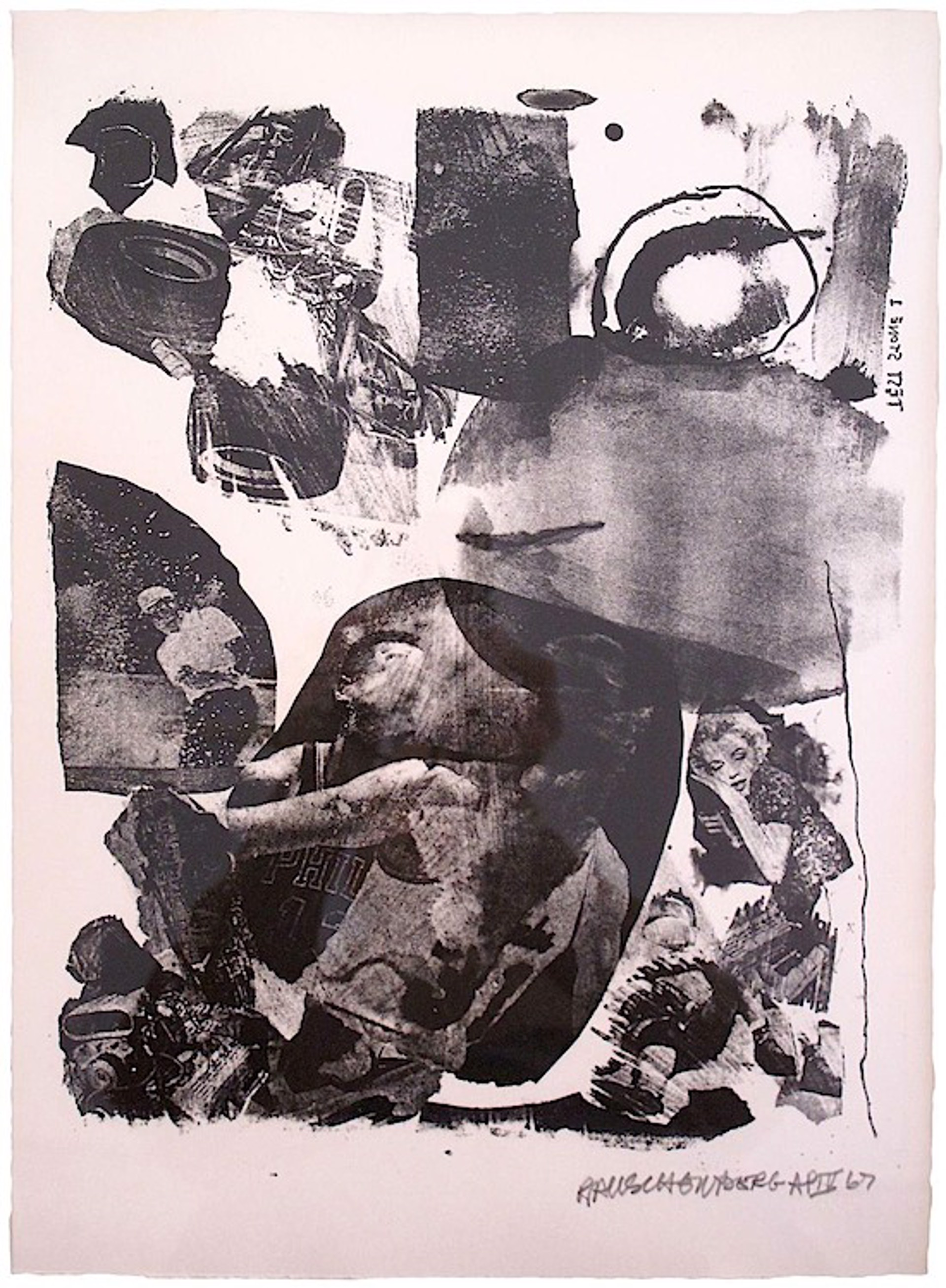 Test Stone #1 br (Marilyn Monroe)from the 'Booster and 7 Studies' series by Robert Rauschenberg