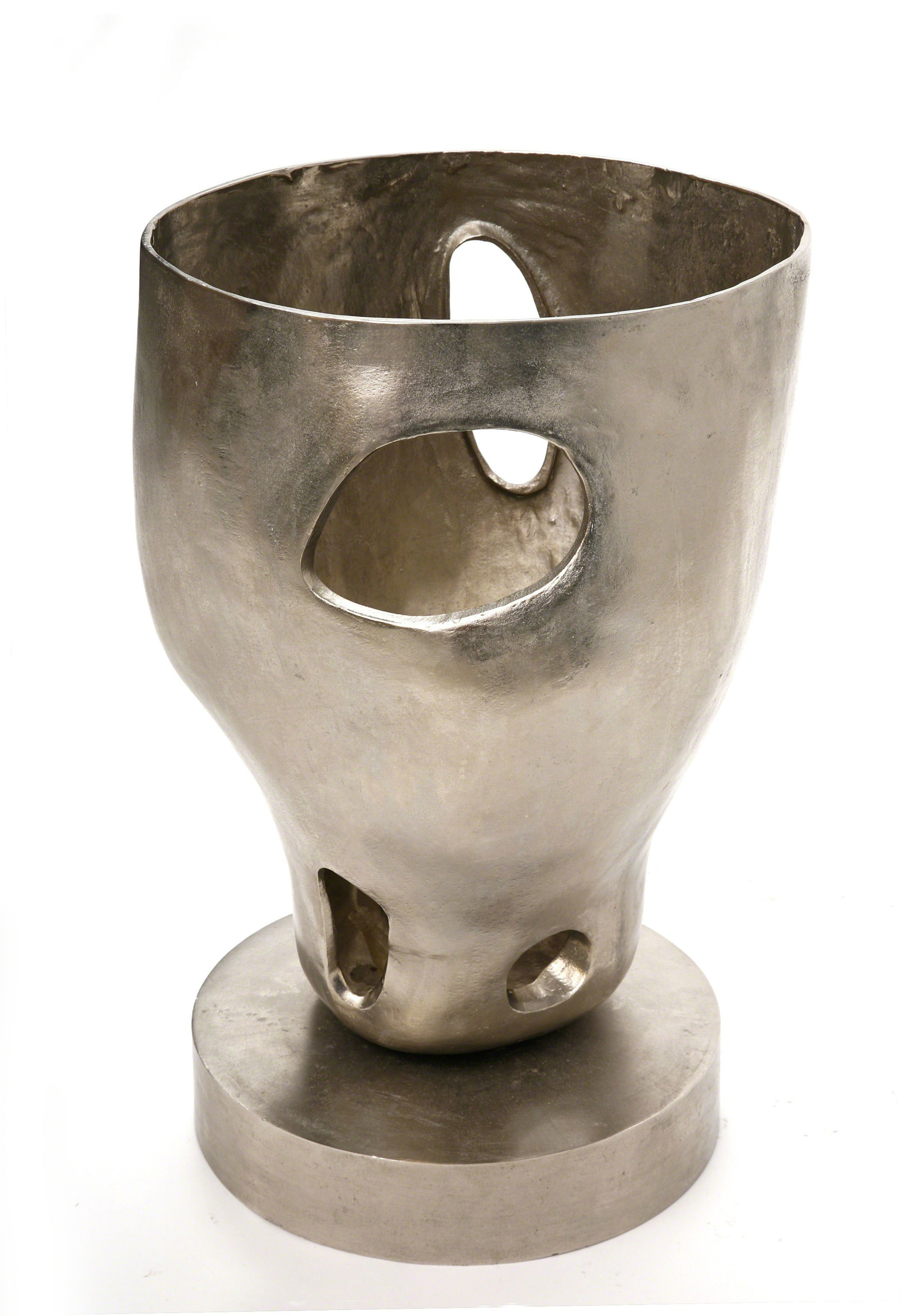 """Torquemada"" Silver lamp  by Jacques Jarrige"