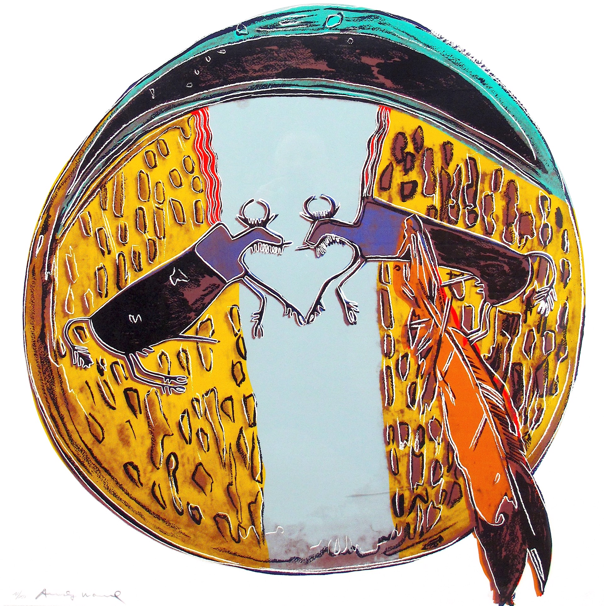 Plains Indian Shield (from Cowboys and Indians suite) by Andy Warhol