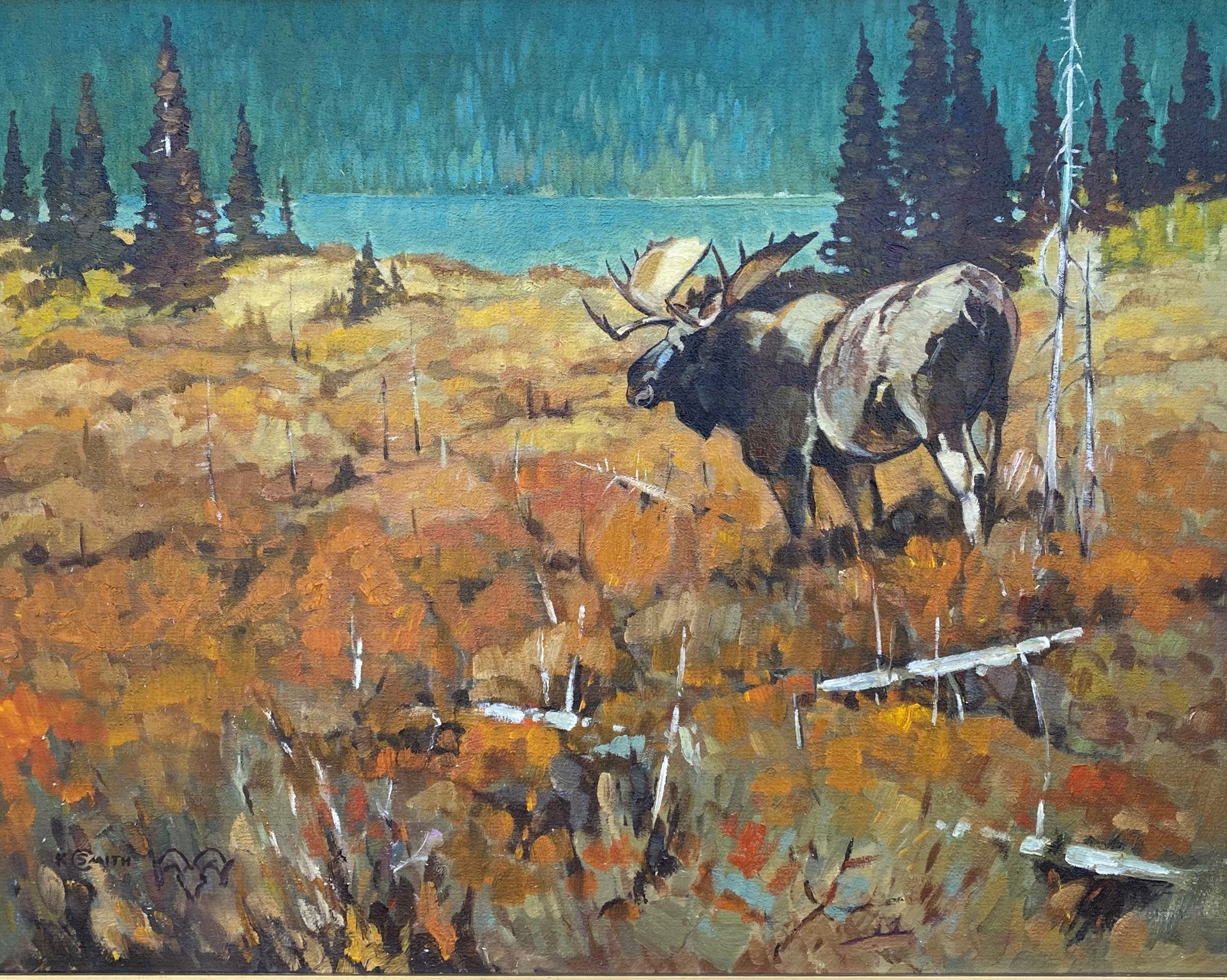 Keith C Smith - Bull Moose by Historical Art