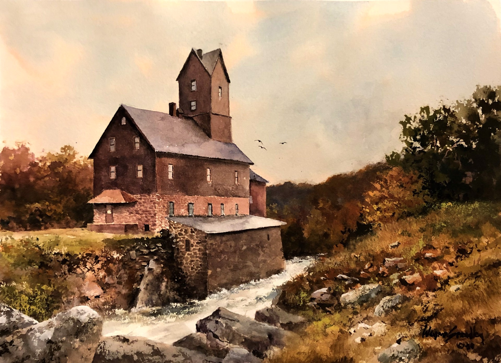 Old Mill in Vermont by Wayne Spradley
