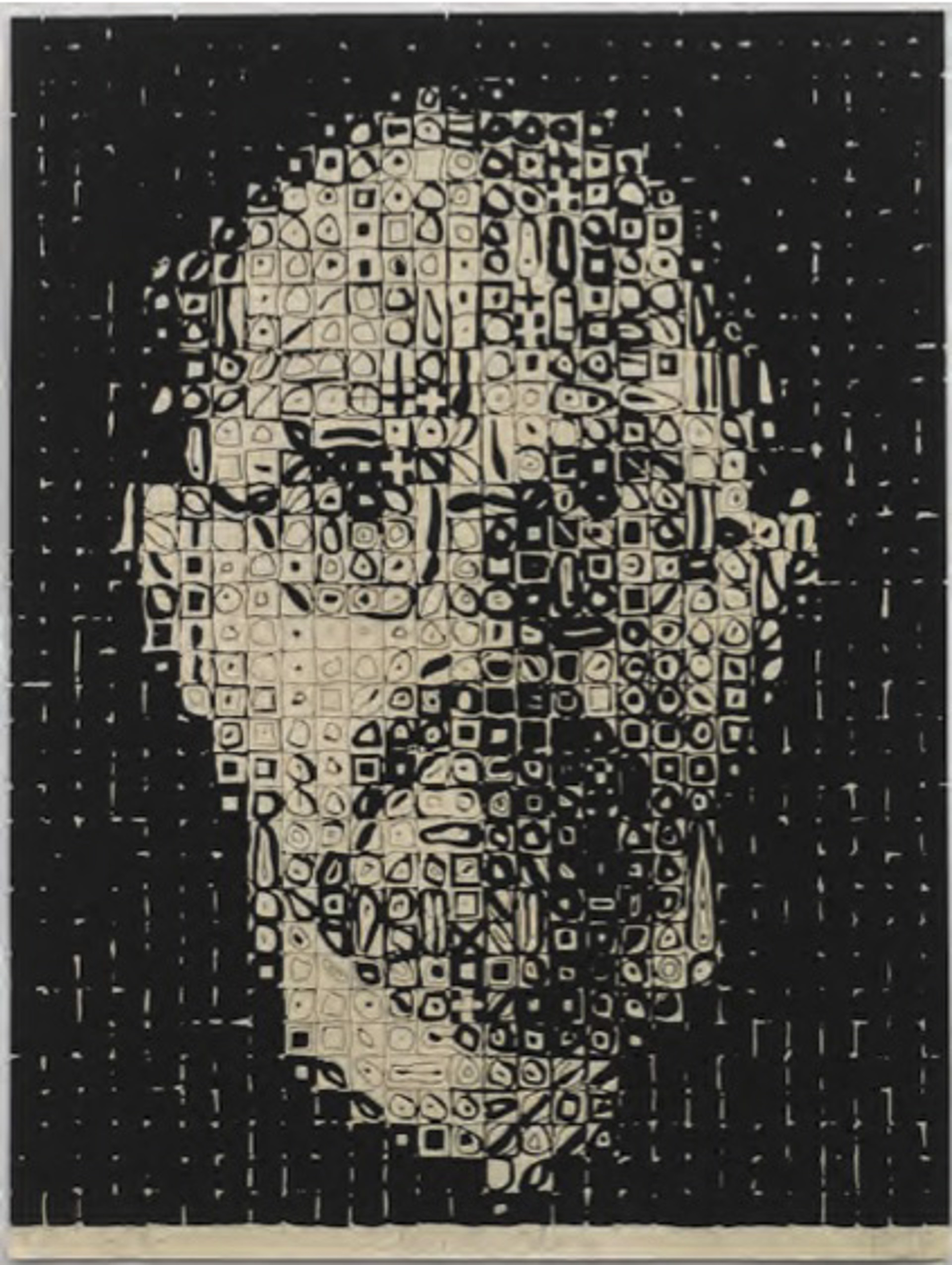 Self Portrait #1 by Chuck Close