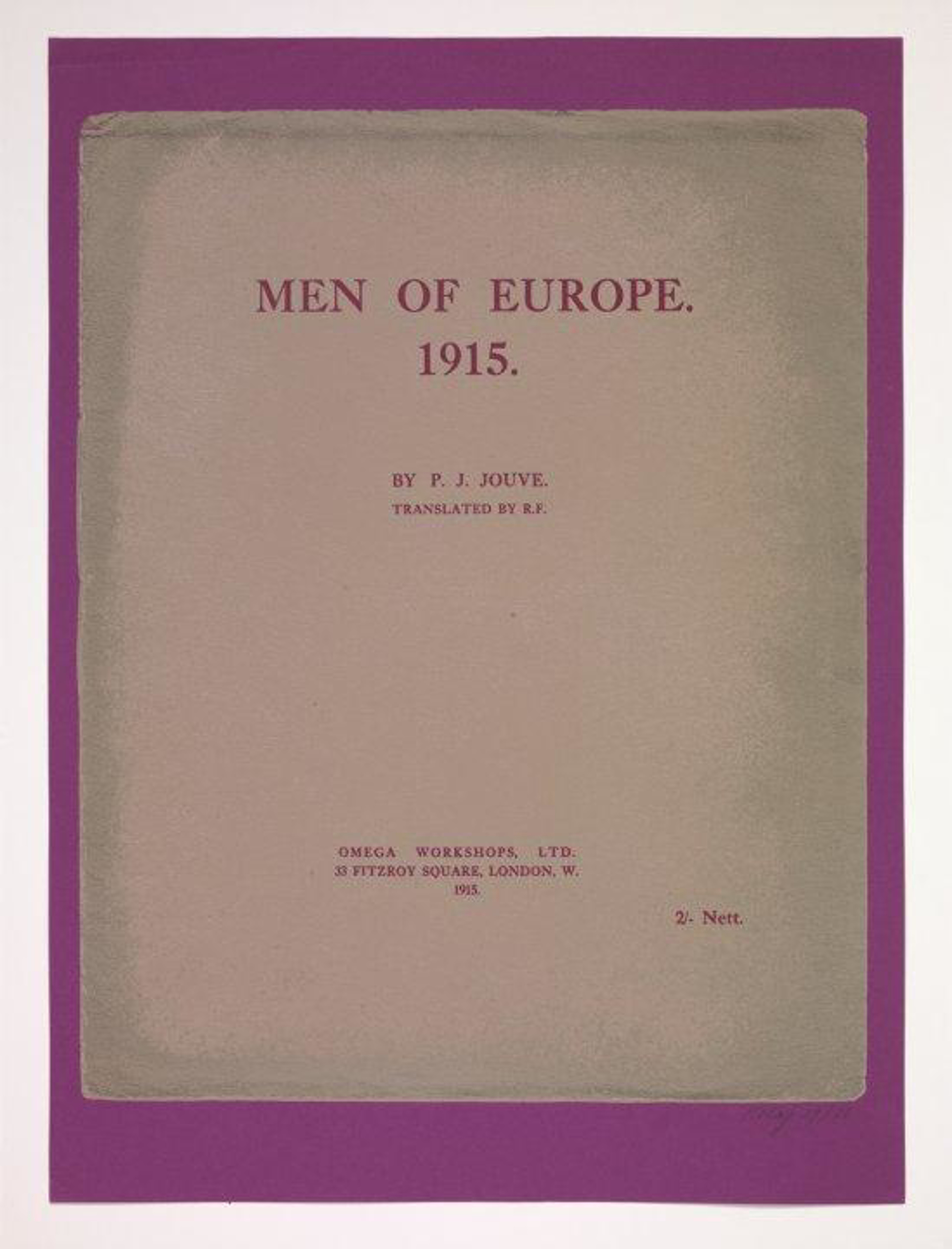 Men of Europe. 1915. by R.B. (Ronald Brooks) Kitaj