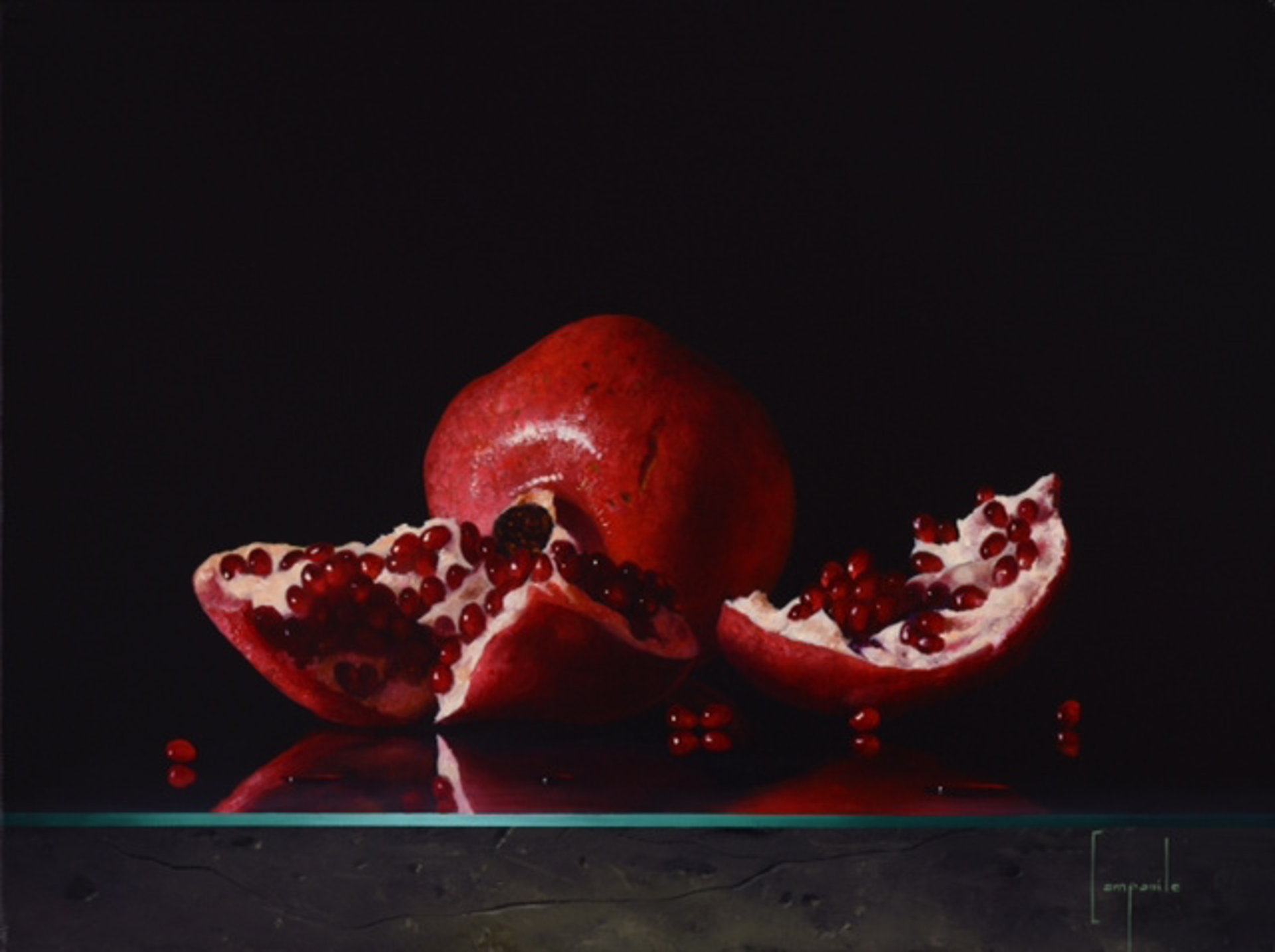 Study Of Pomegranate by Dario Campanile