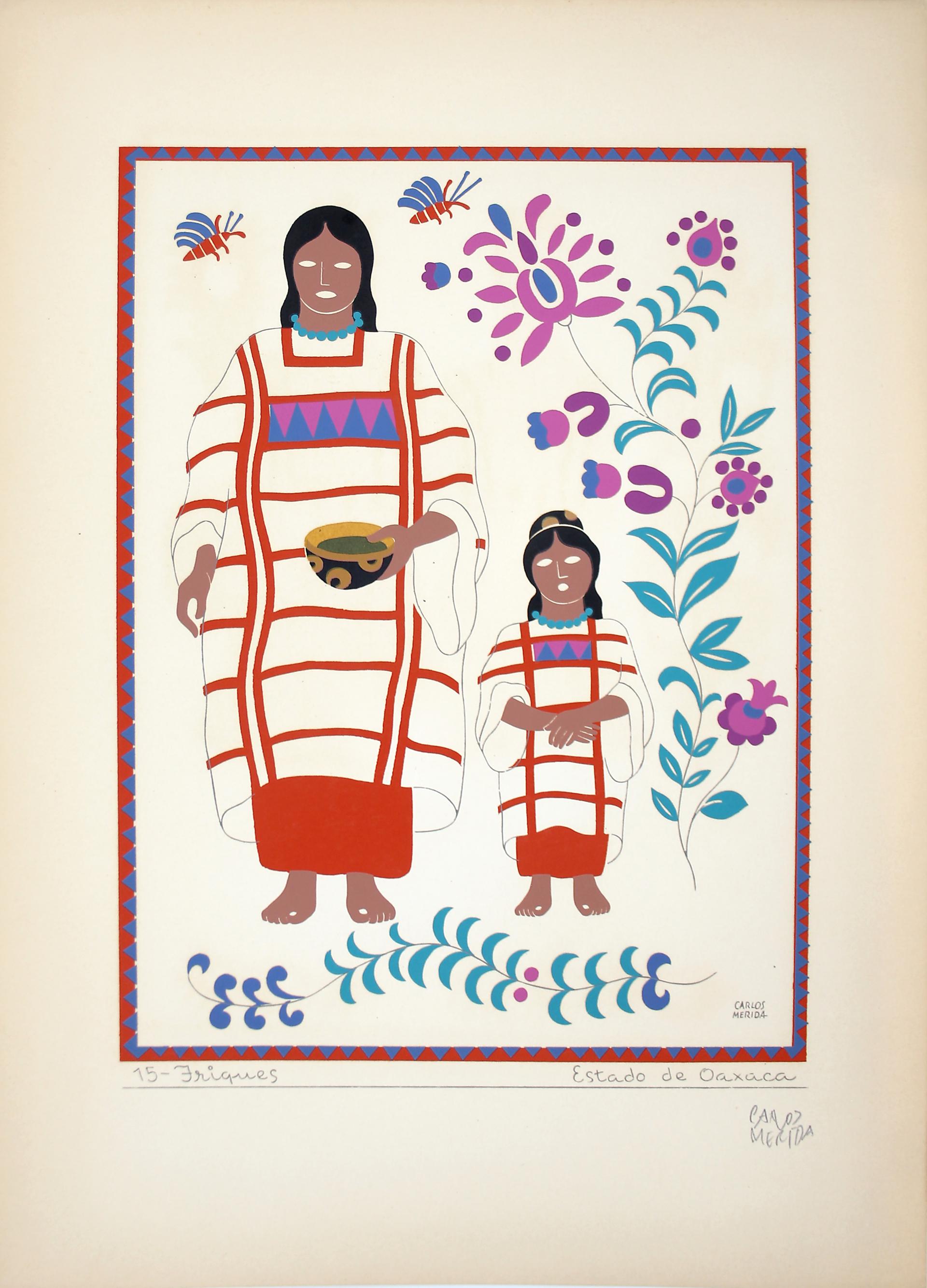 Triques, Estado de Oaxaca by Carlos Mérida (1891 - 1985)