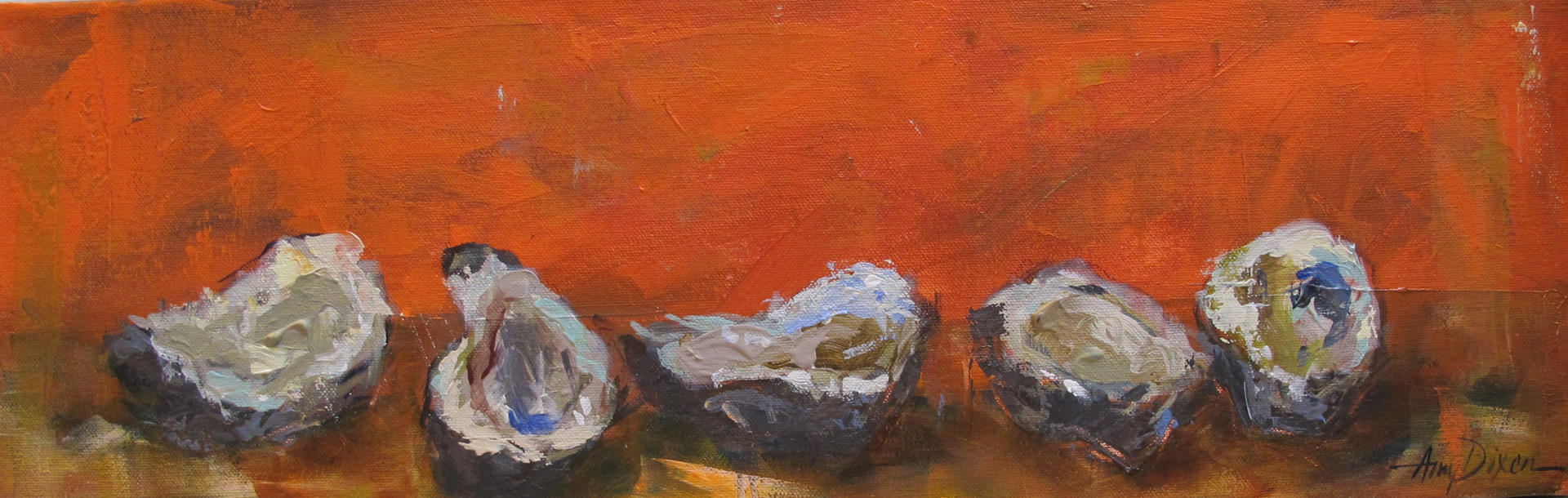 Oysters on Orange by Amy Dixon