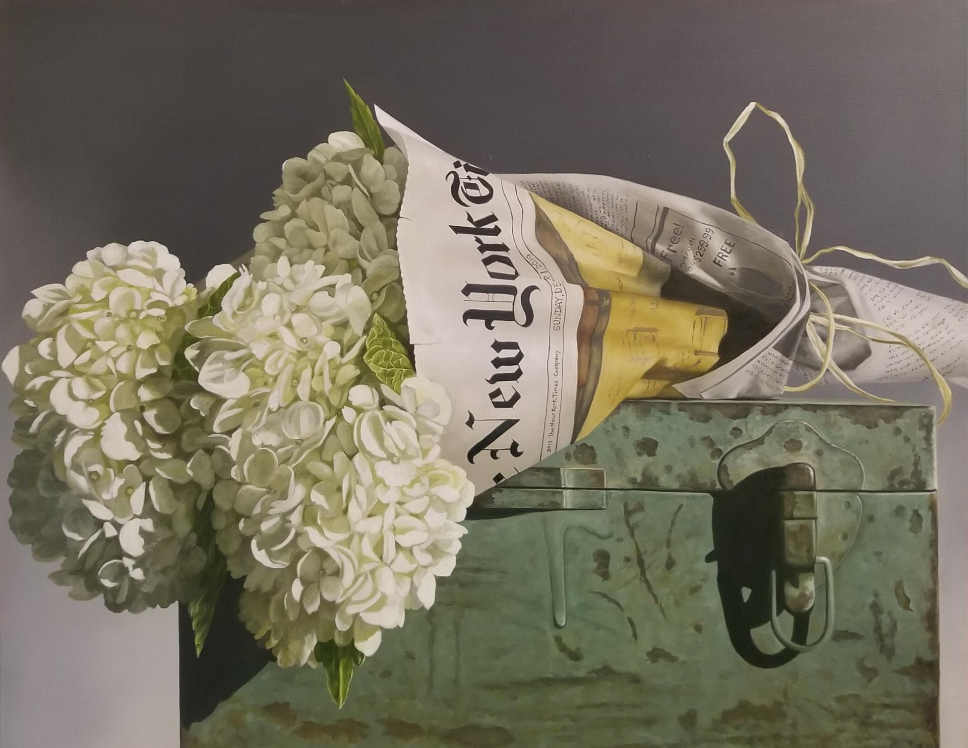 White Hydrangea in NY Times by Loren DiBenedetto, OPA