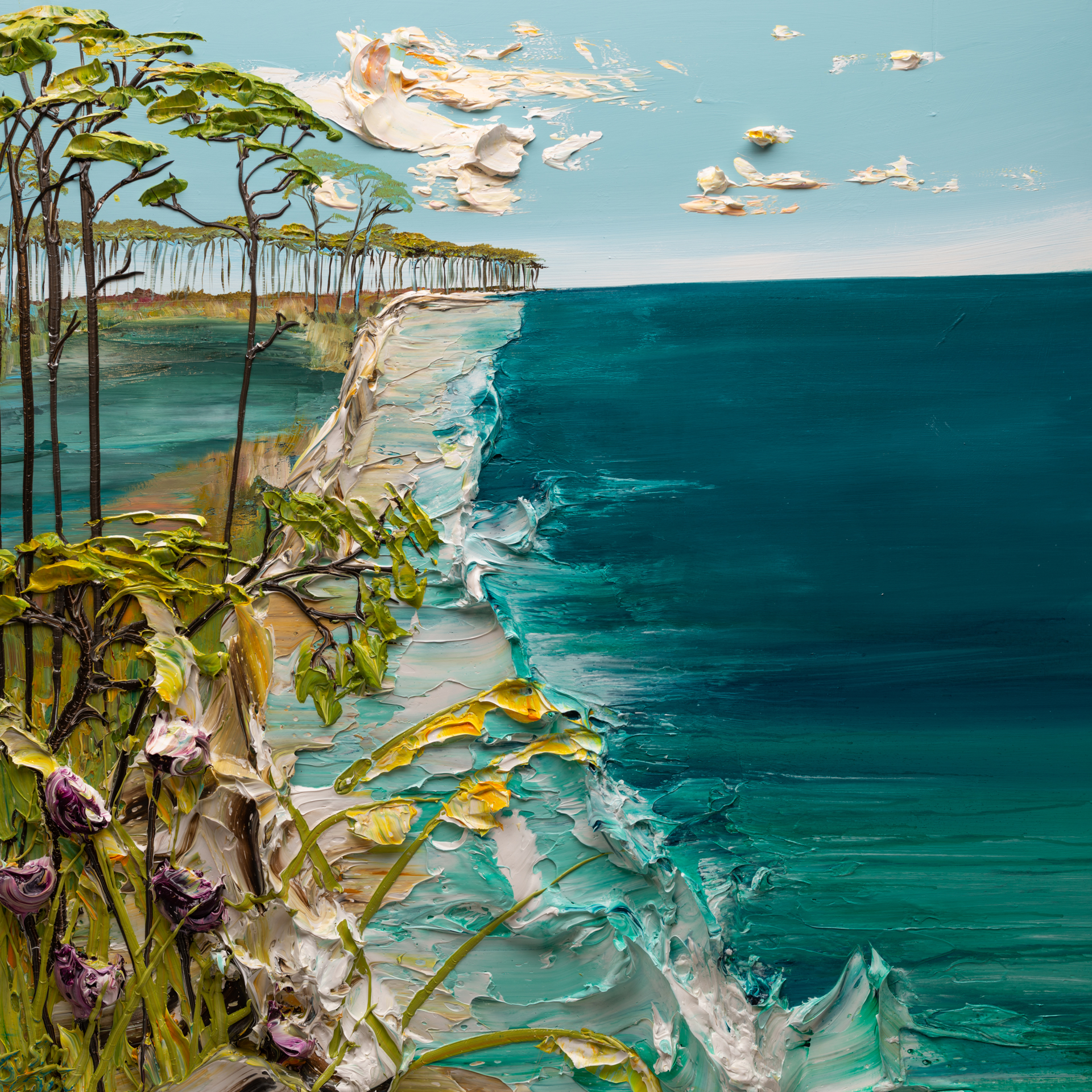 (SOLD)SEASCAPE SS-48X48-2020-012 by JUSTIN GAFFREY