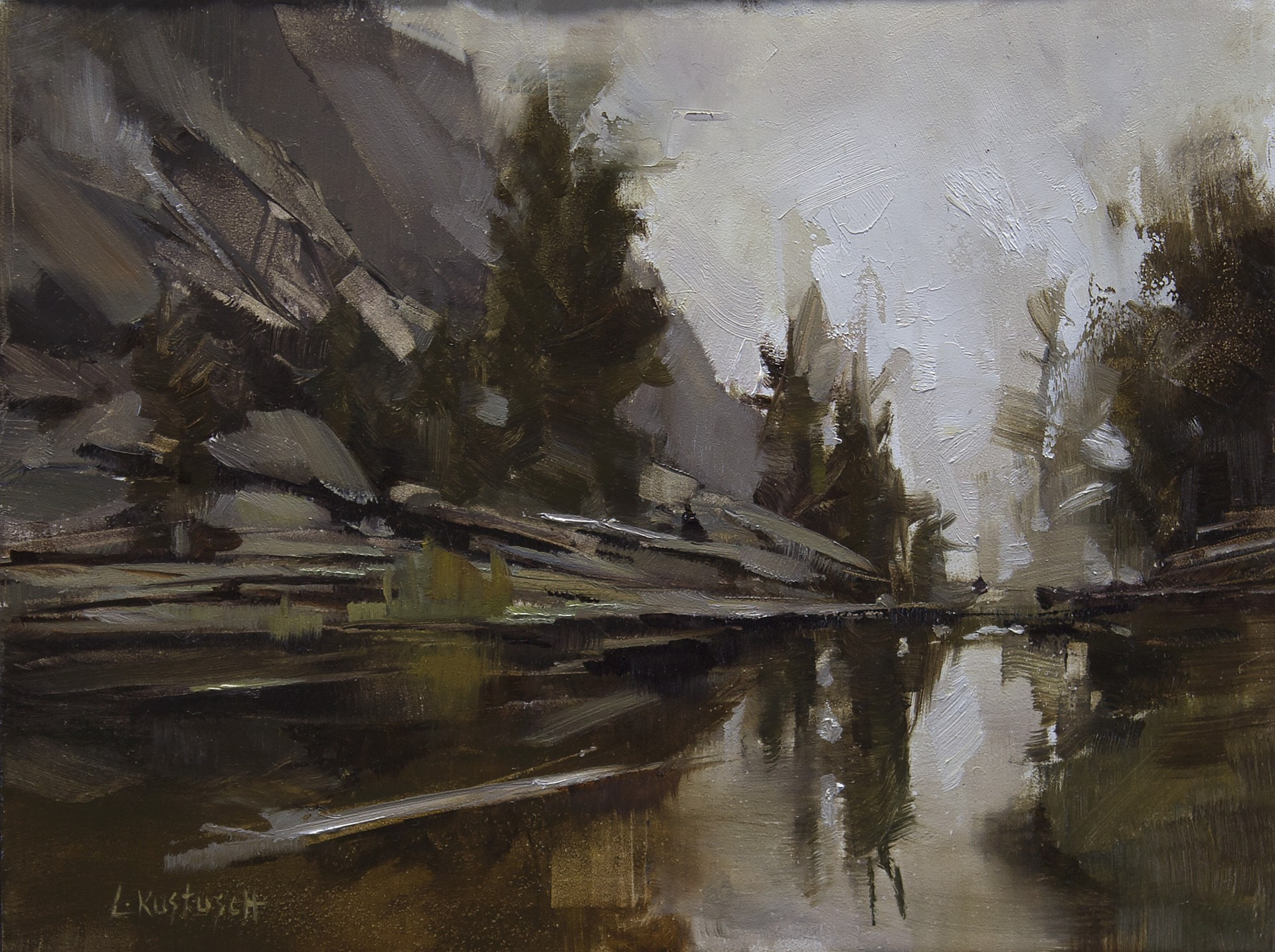Plein Air at Gem Lake by Lindsey Kustusch