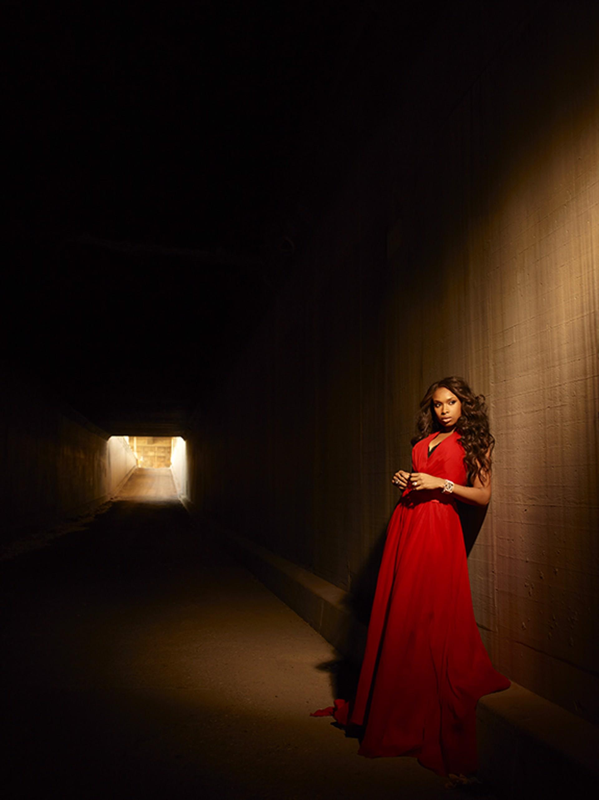 11031 Jennifer Hudson Red Dress Color by Timothy White