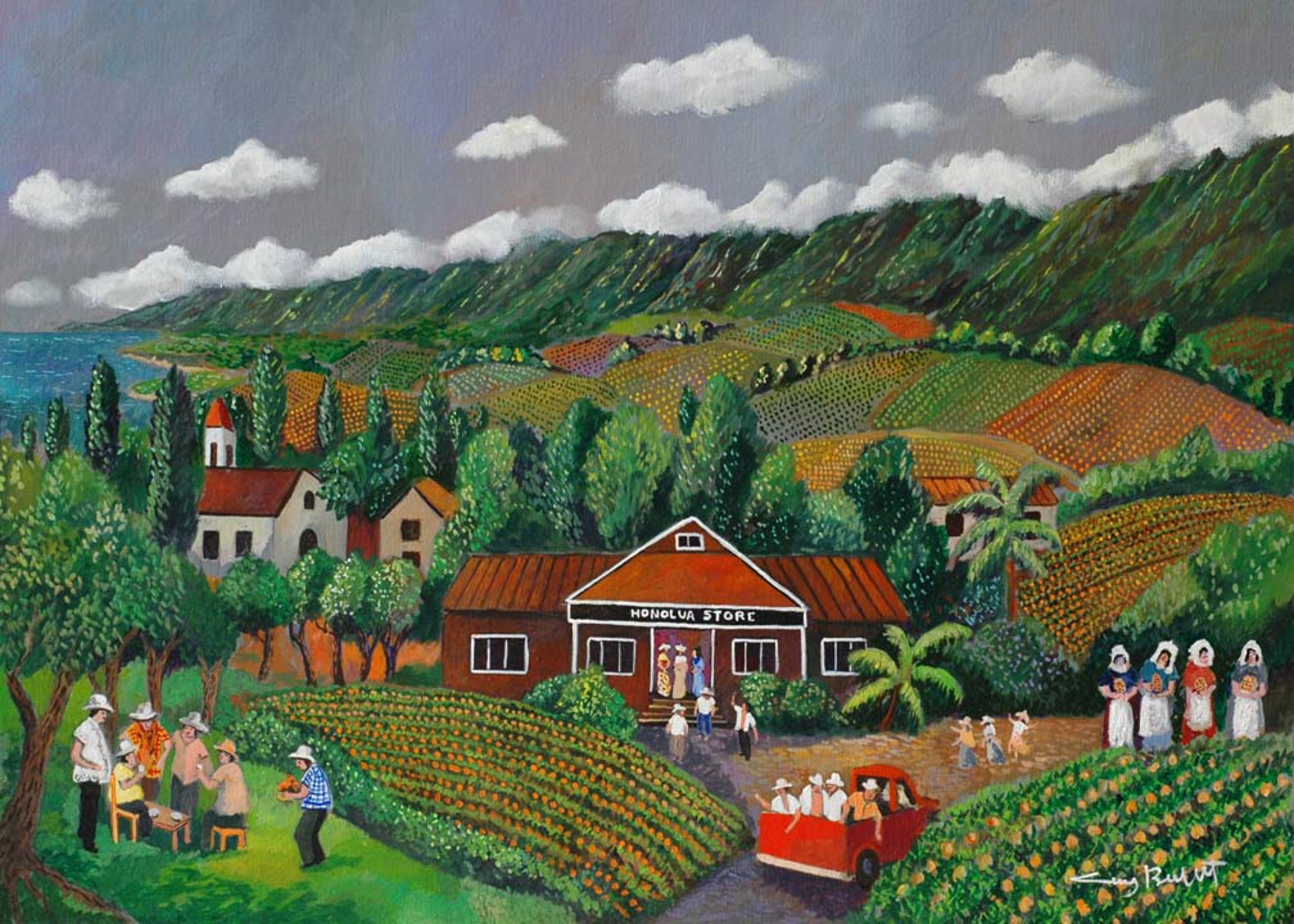 Pineapple Hill; The Old Days by Guy Buffet