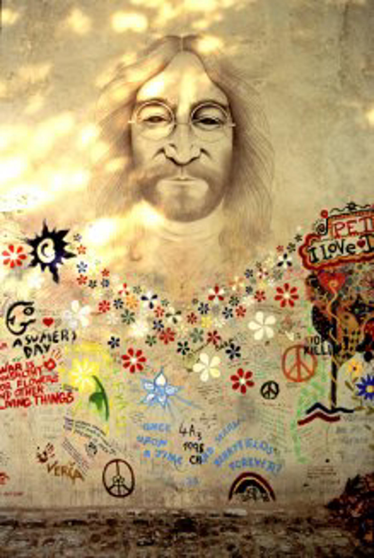 Lennon Portrait, Prague by Ron Rocz