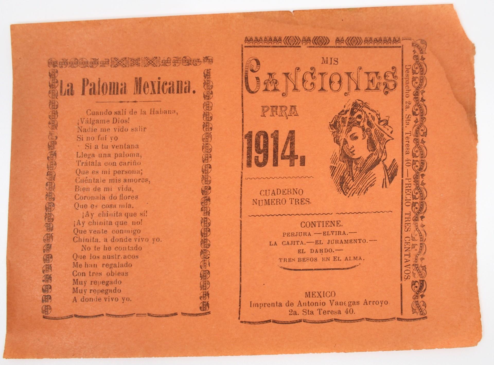 Mis Canciones Para 1914 by José Guadalupe Posada (1852 - 1913)