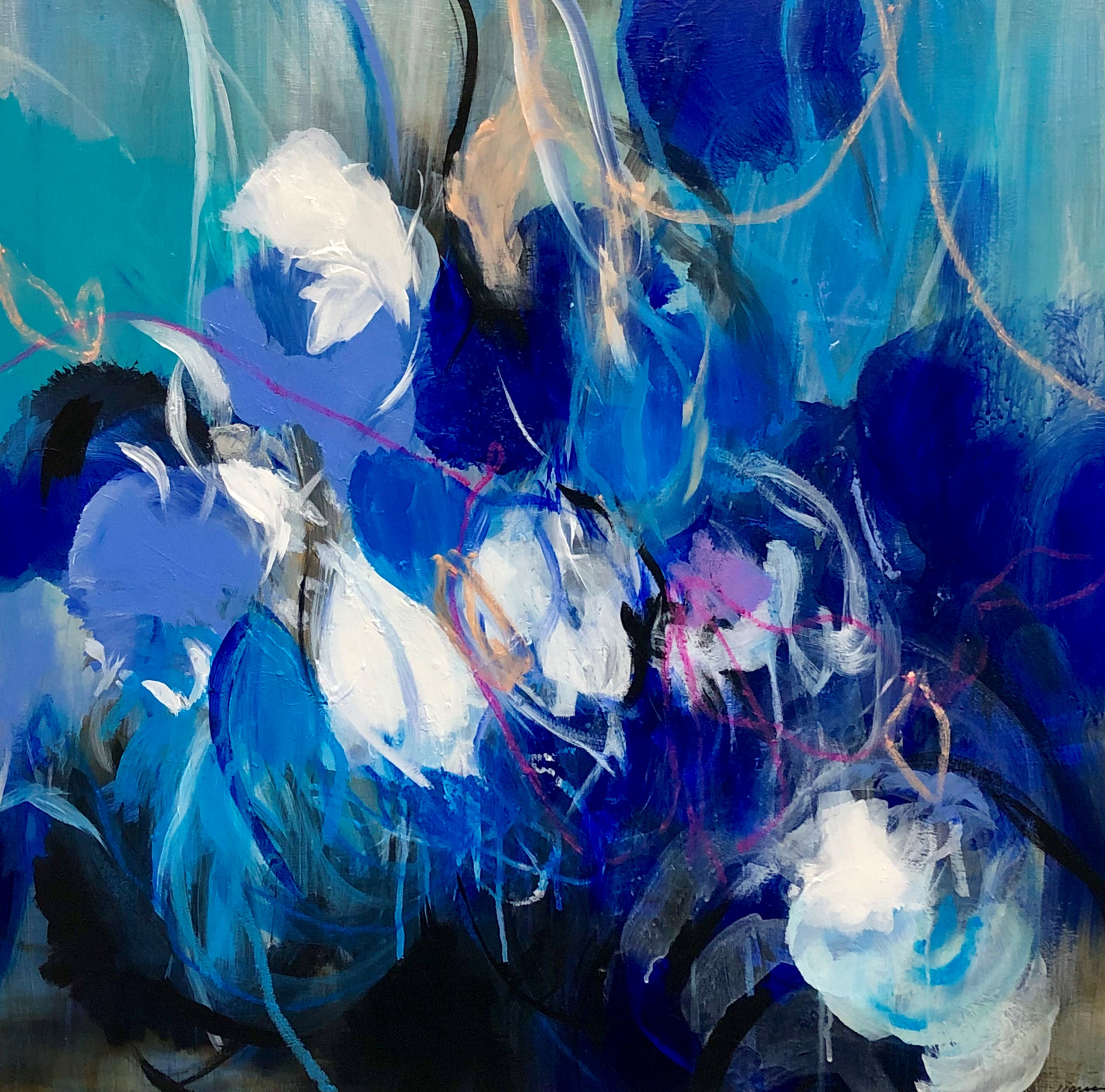 Indigo I by Jennifer JL Jones (b. 1971)