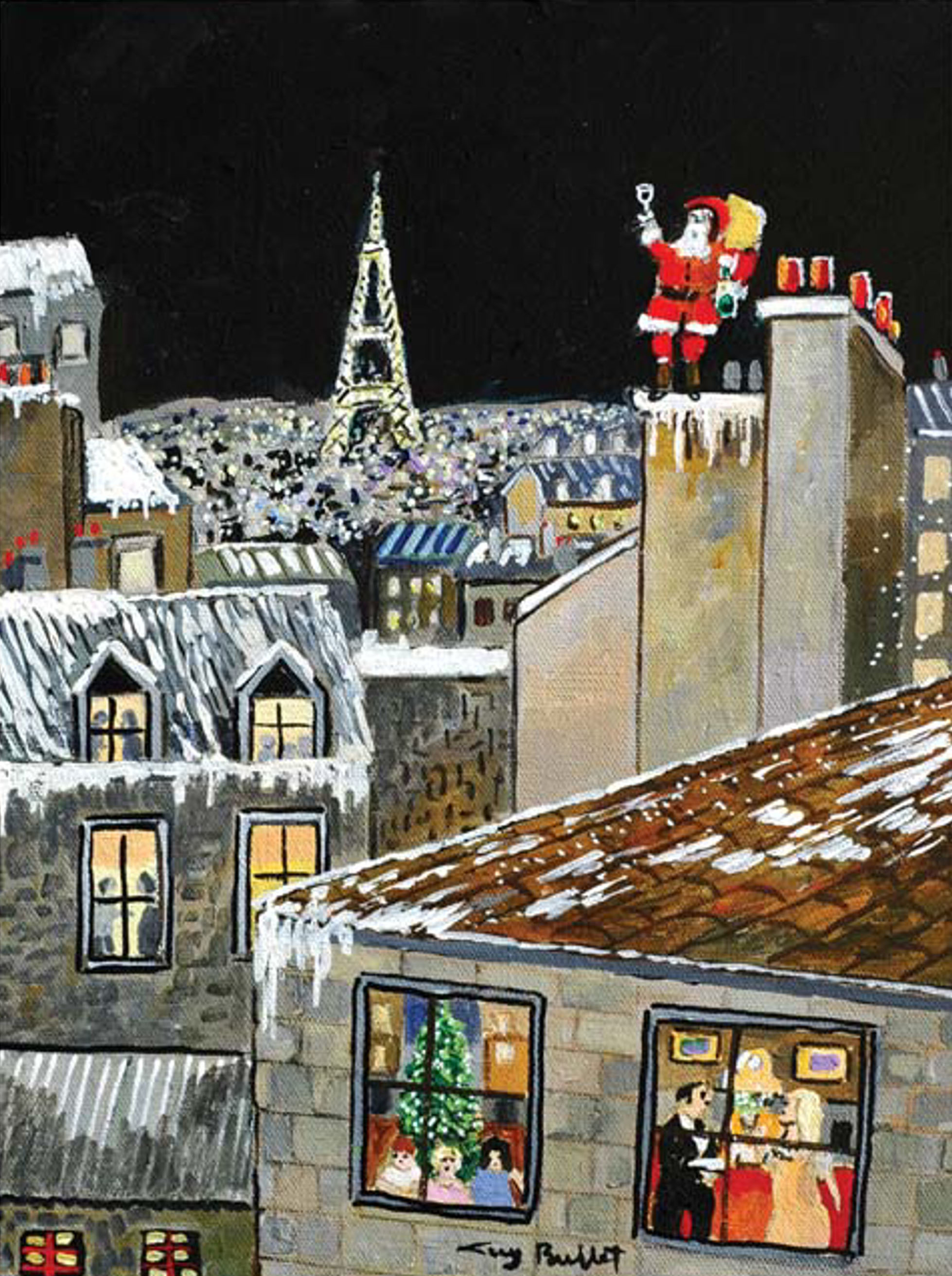 Christmas In Paris by Guy Buffet