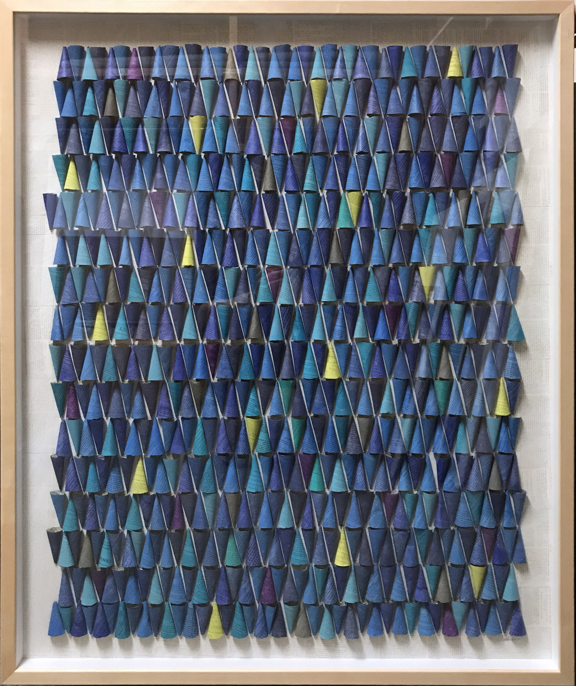Cone Blanket II Blue by Philip Durst
