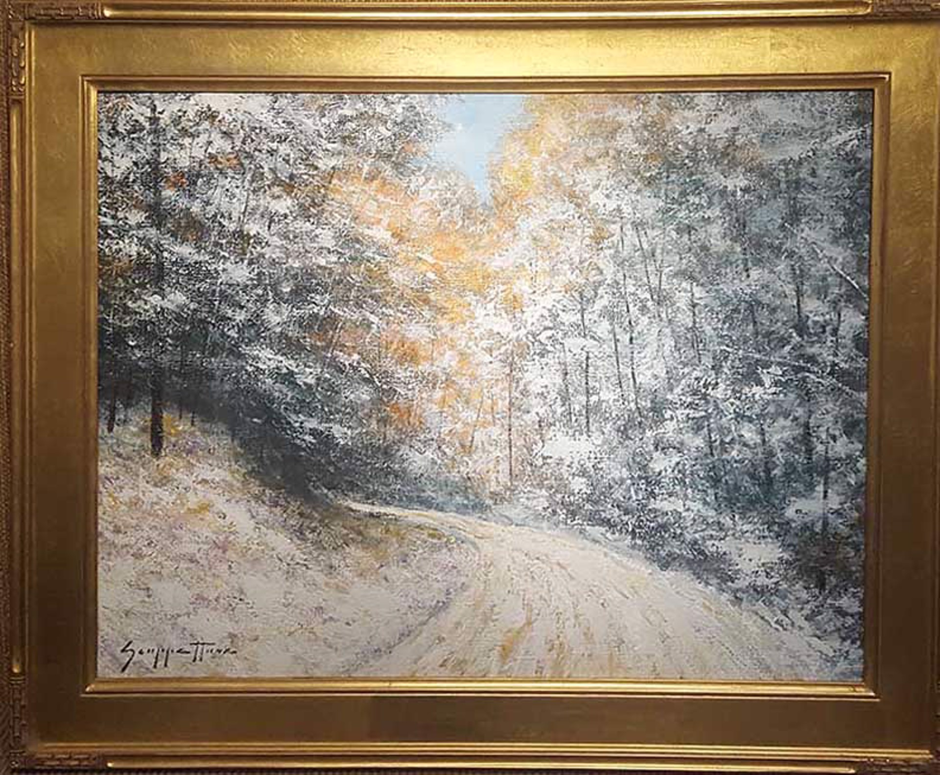 Late Autumn, Early Snow by James Scoppettone