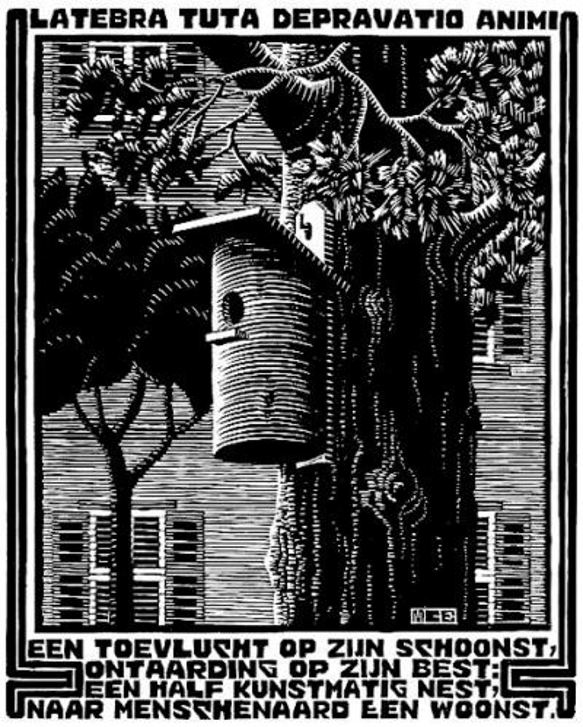 Emblemata - Retreat by M.C. Escher