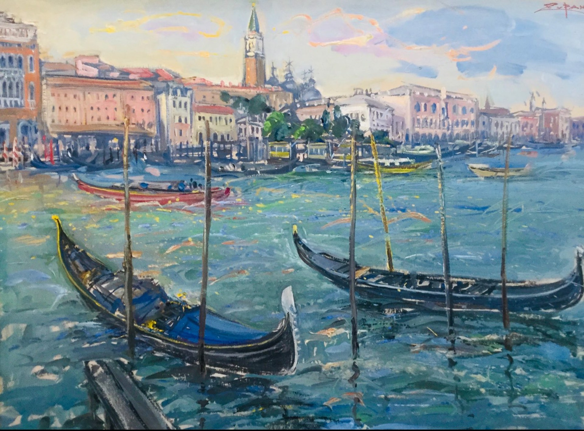 Grand Canal, View To San Marco by Bruno Zupan
