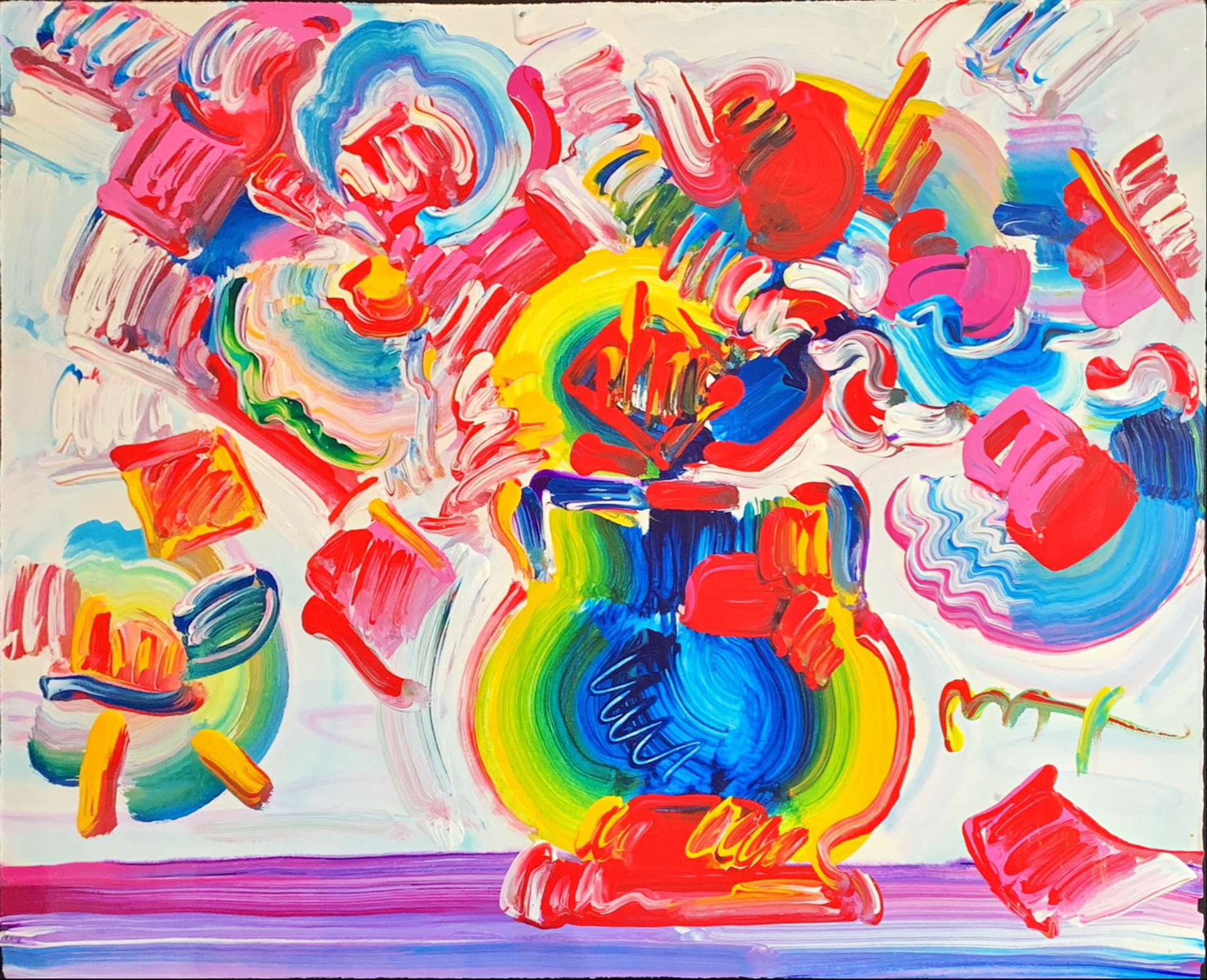 Vase of Flowers by Peter Max