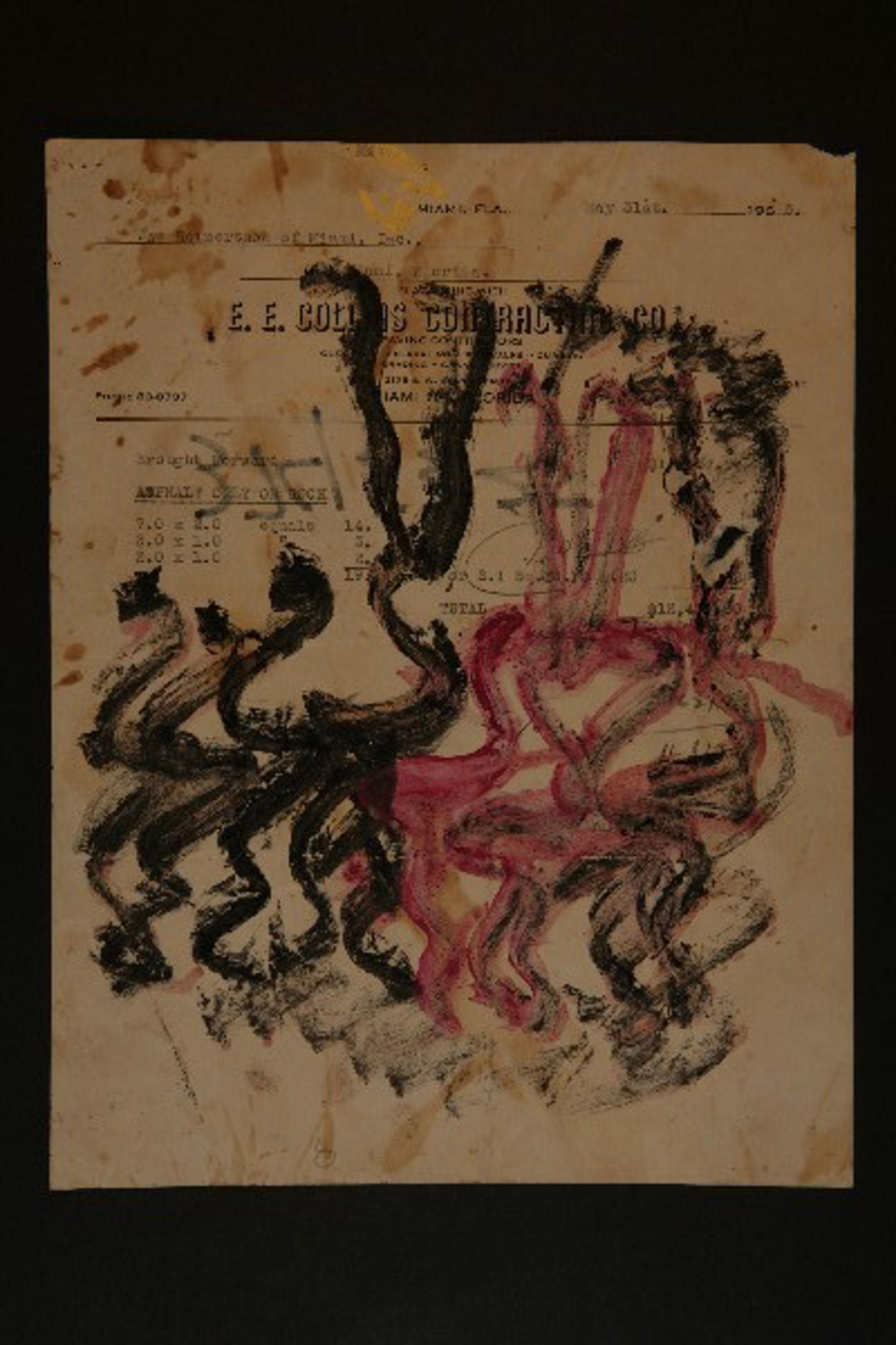 NOT FOR SALE - Drawing from the 1990's #173 by Purvis Young (1943 - 2010)