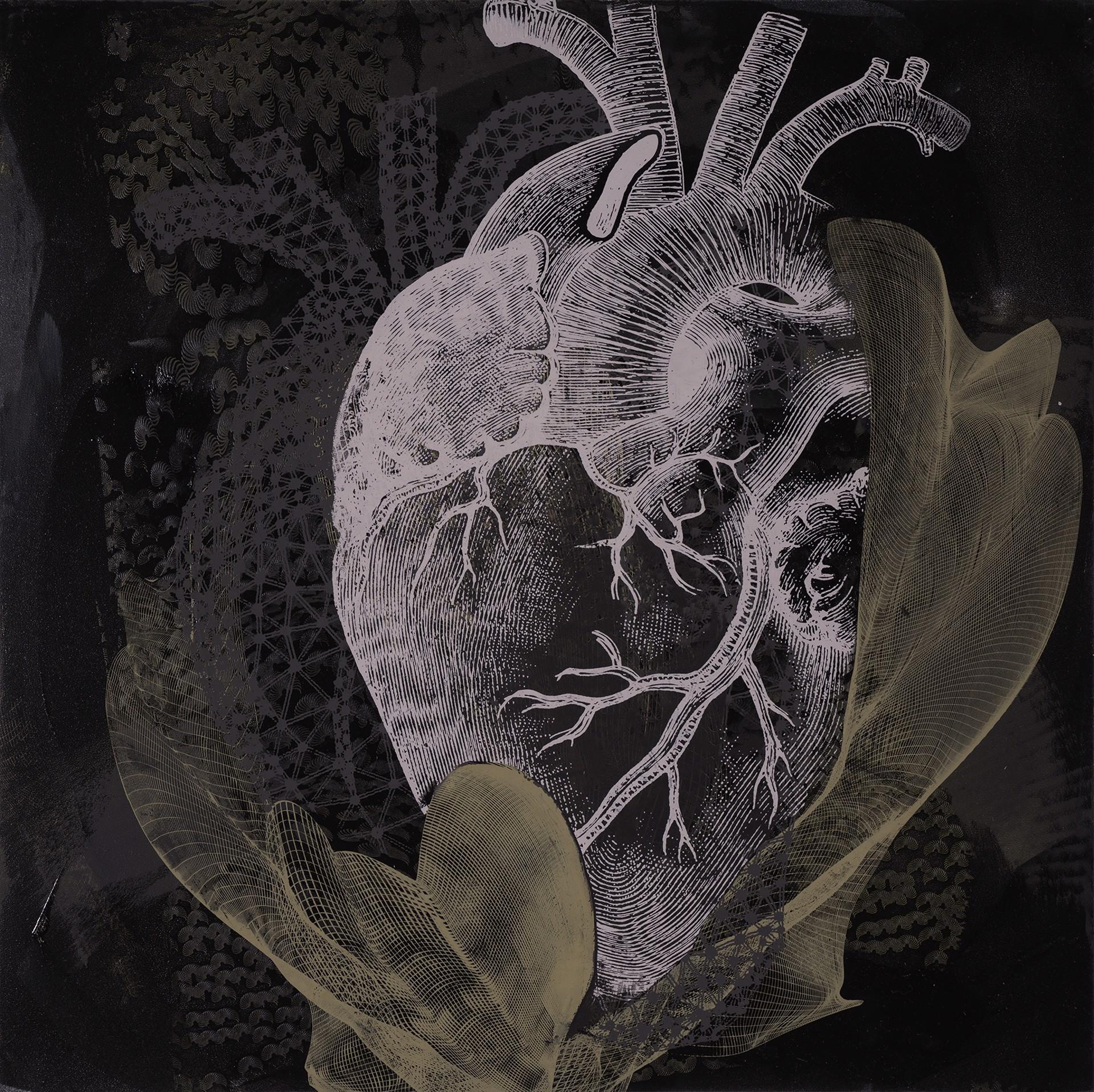 Hatched Heart by Dorothea Van Camp