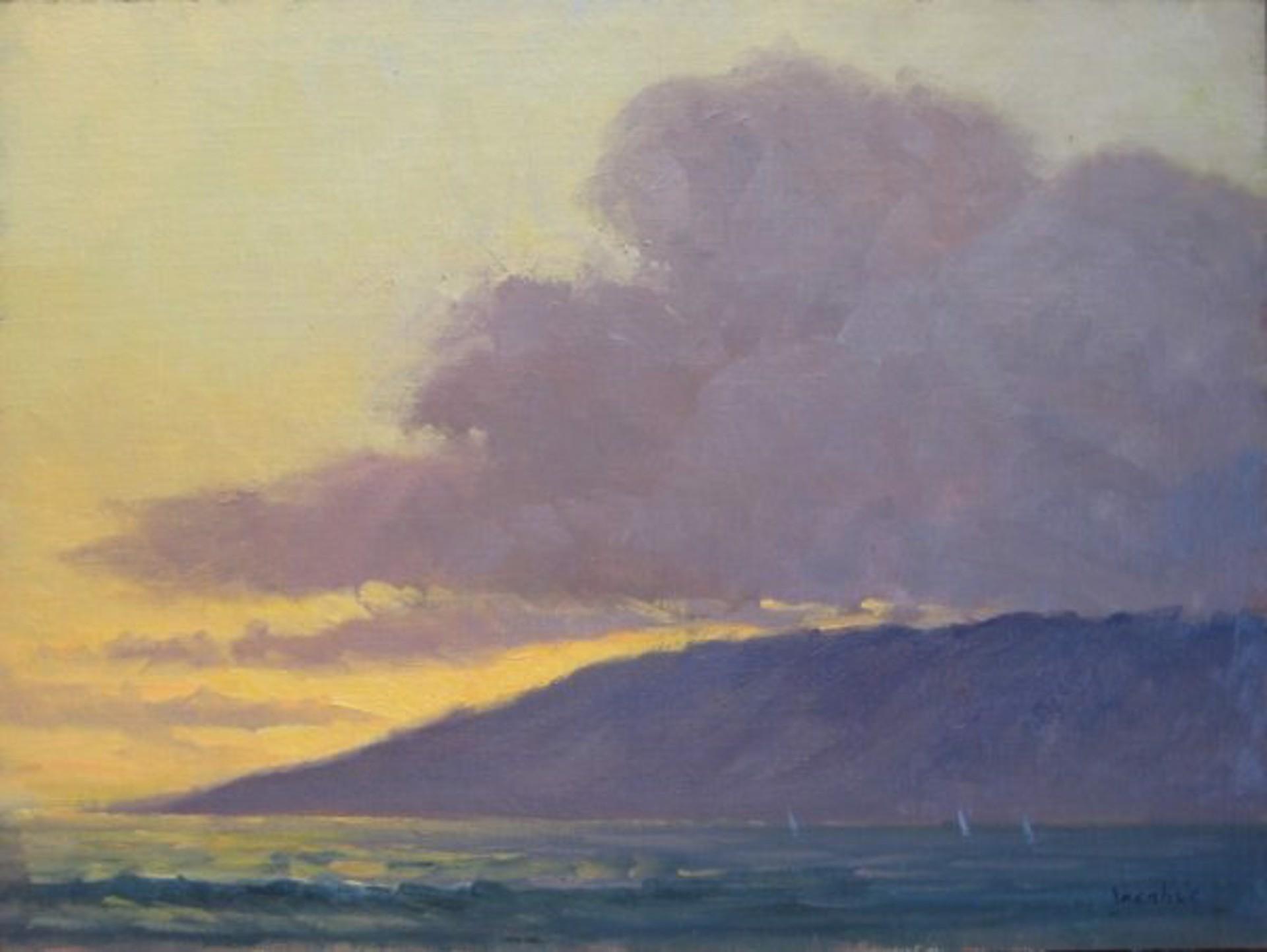 Jacobus: Sunset Clouds Over Lanai by Jacobus Baas