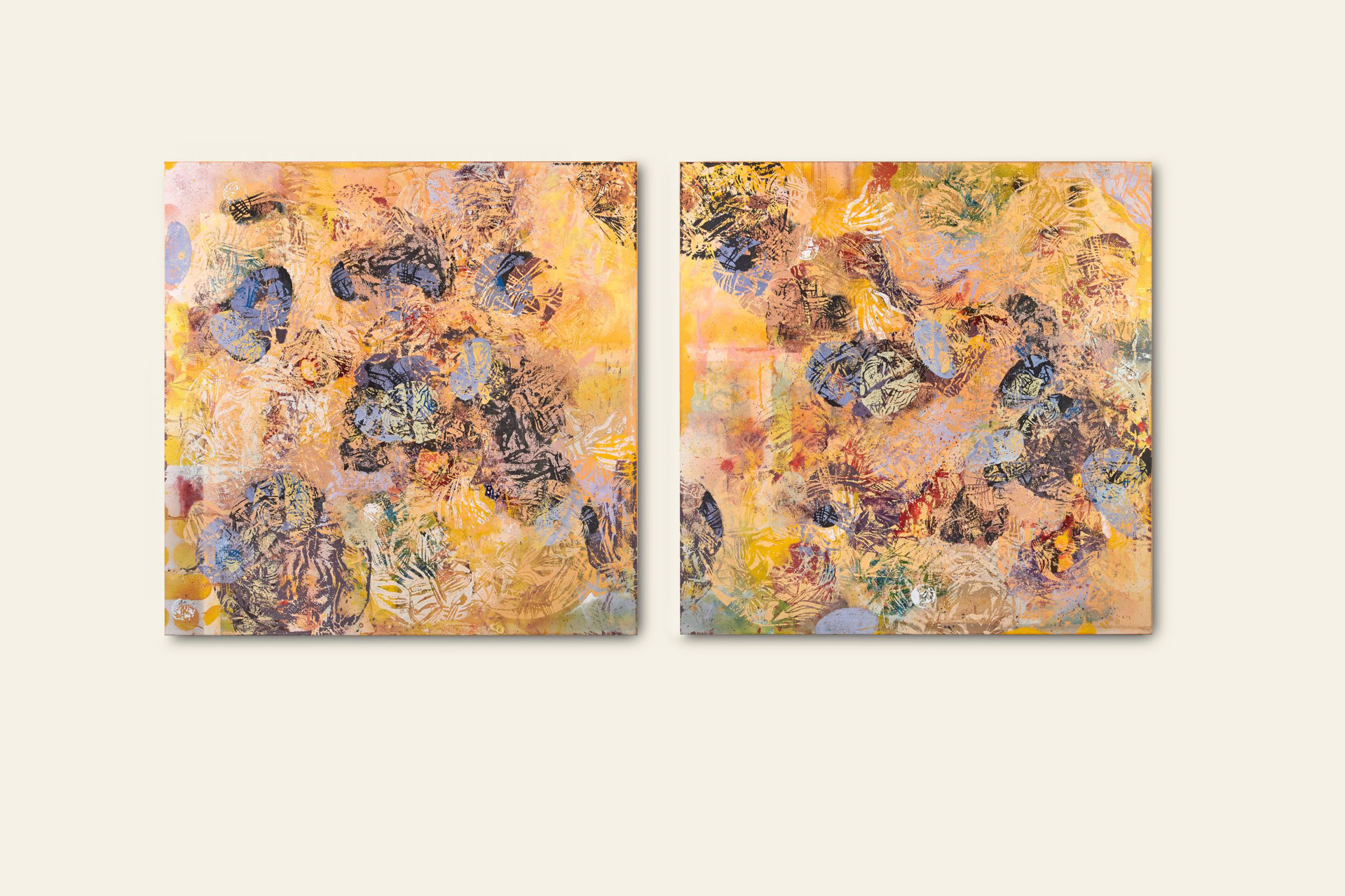 Muscle Dancing (Diptych) by Jennifer Blalack