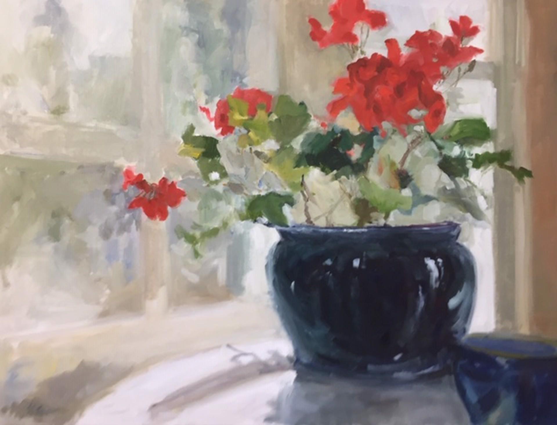 Geraniums by Karen Lawrence