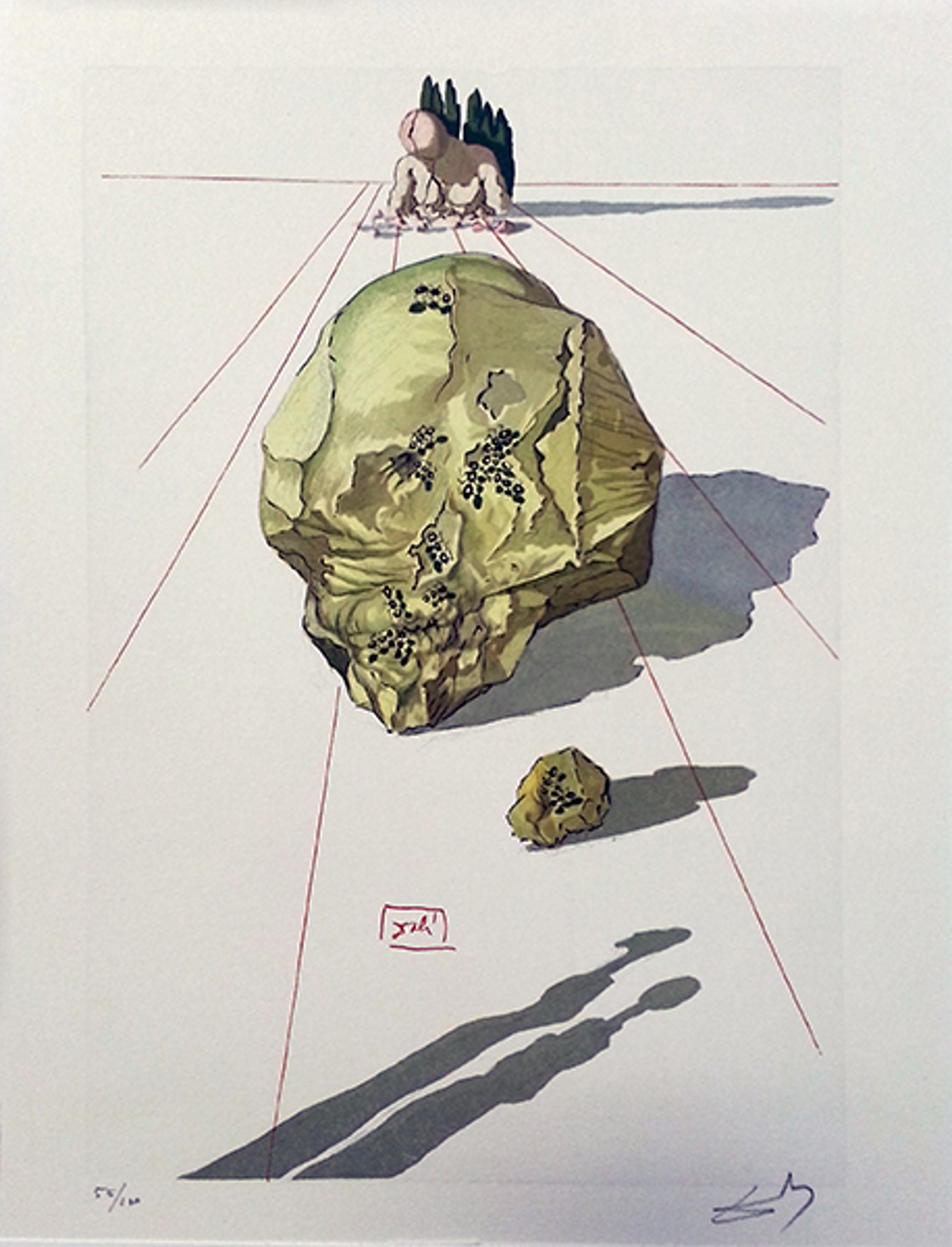 Inferno Canto 23: The Punishment of Hypocrites from the Divine Comedy by Salvador Dali (1904 - 1989)