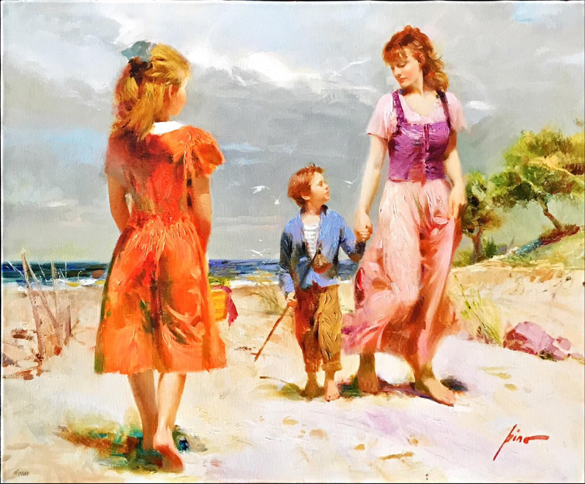 At the Beach by Pino