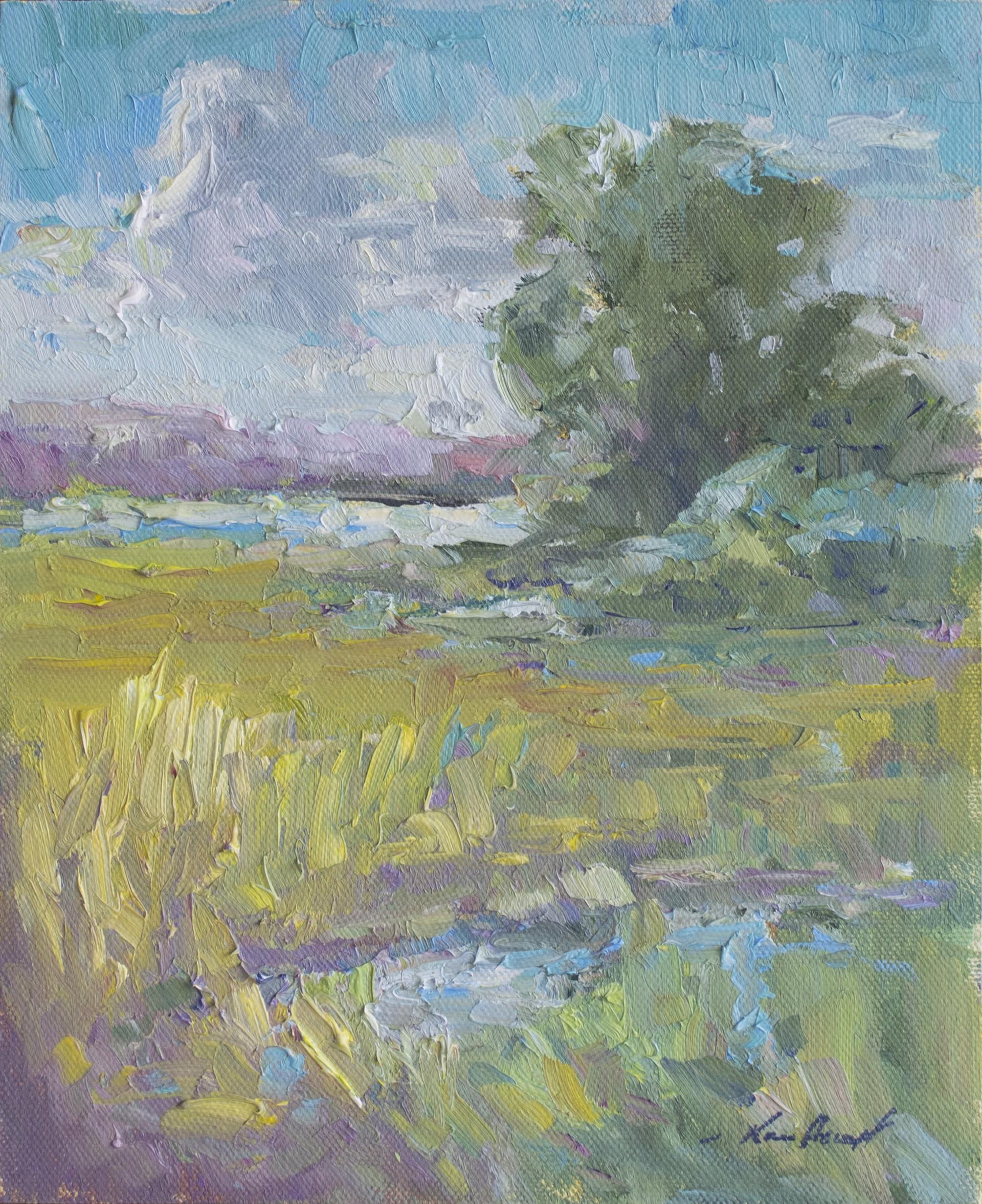 July Day on the Marsh by Karen Hewitt Hagan