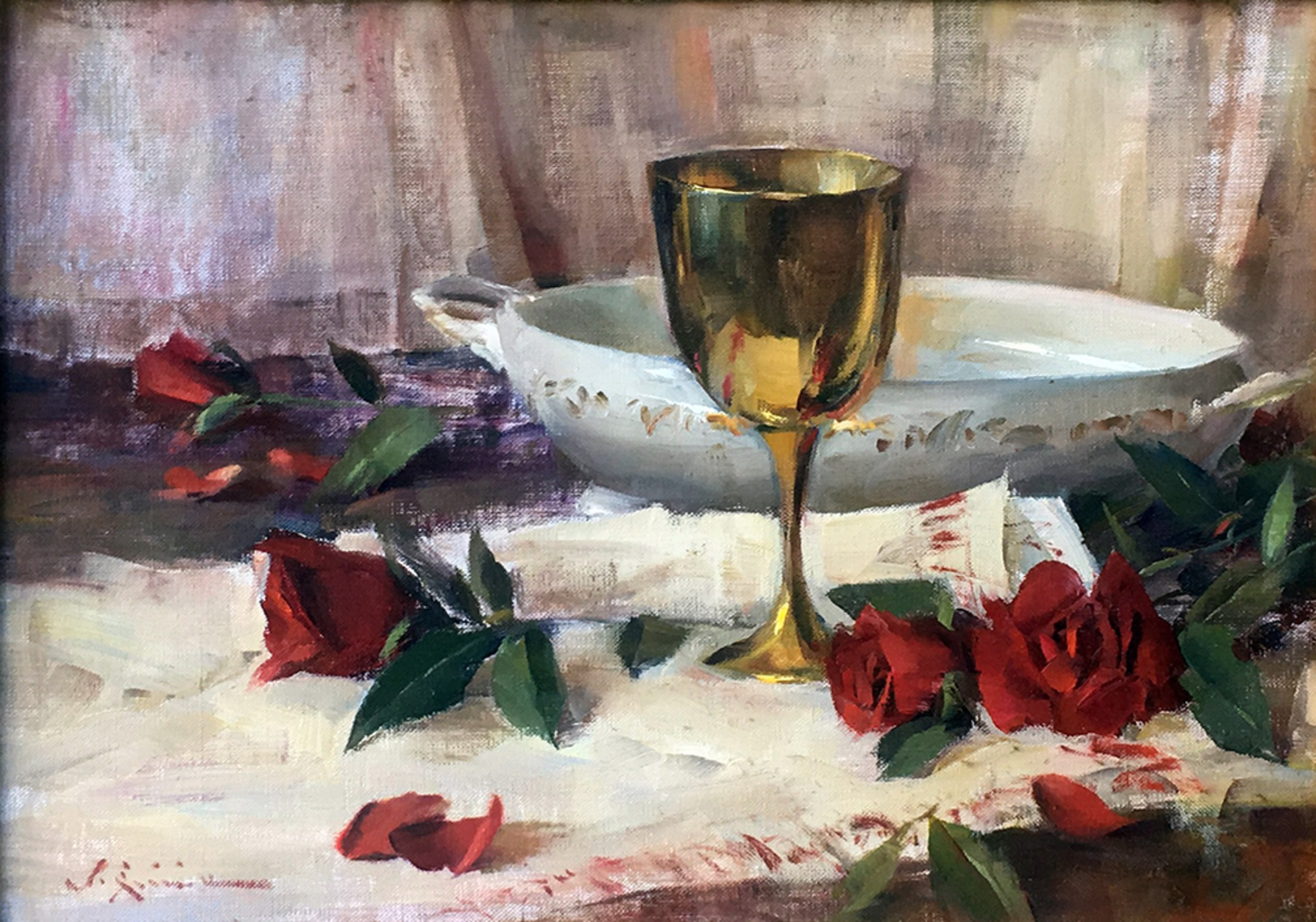 Still-Life with Red Roses by John Encinias