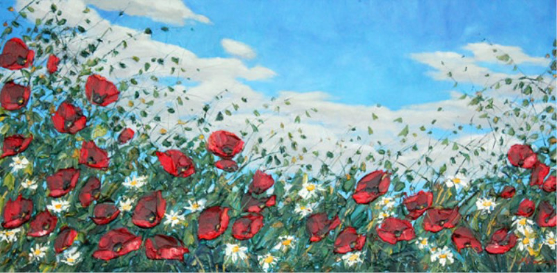 Poppies and Daisies by Jennifer Vranes