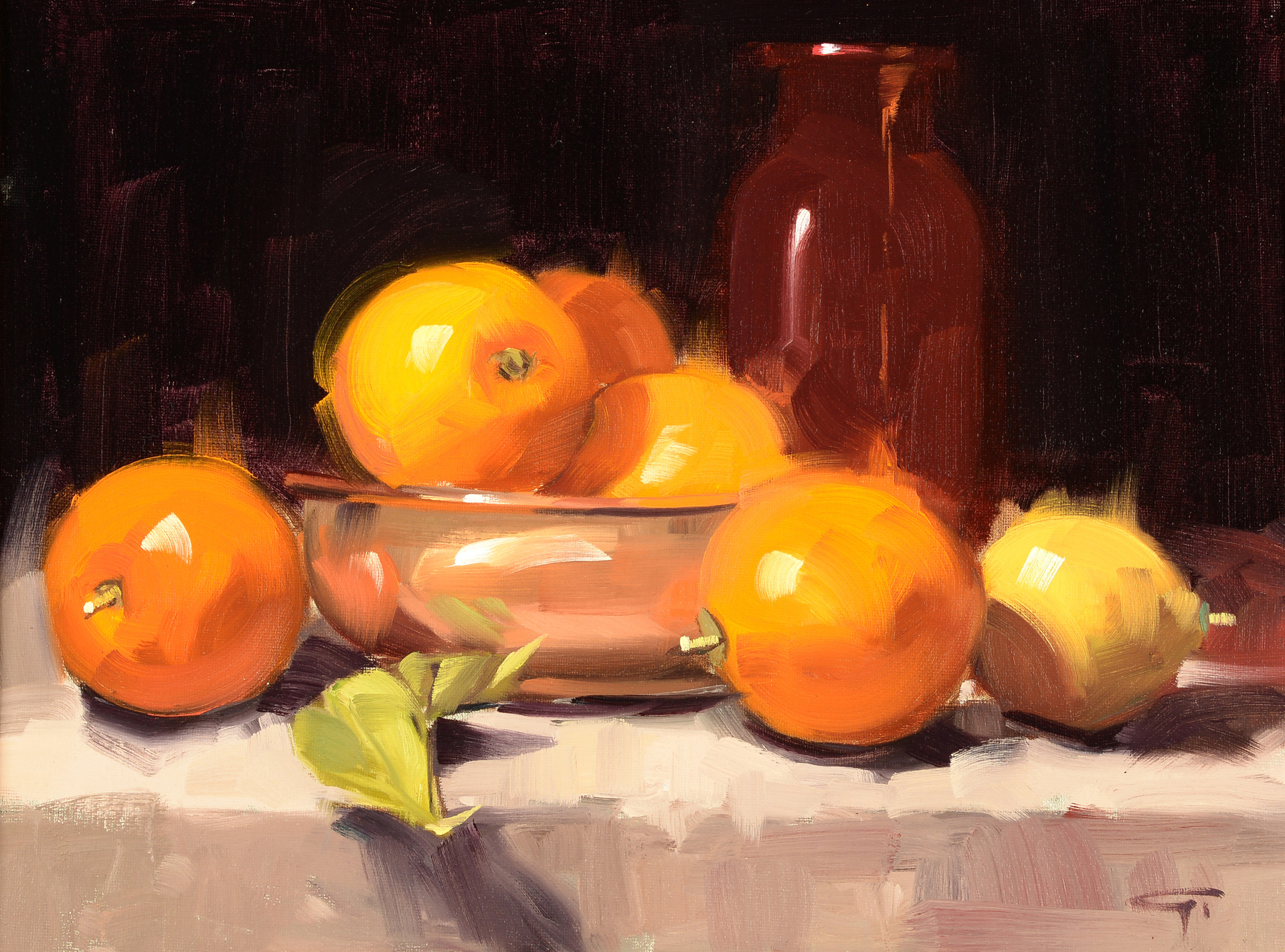 Citrus with Red Bottle by Gerald Griffin