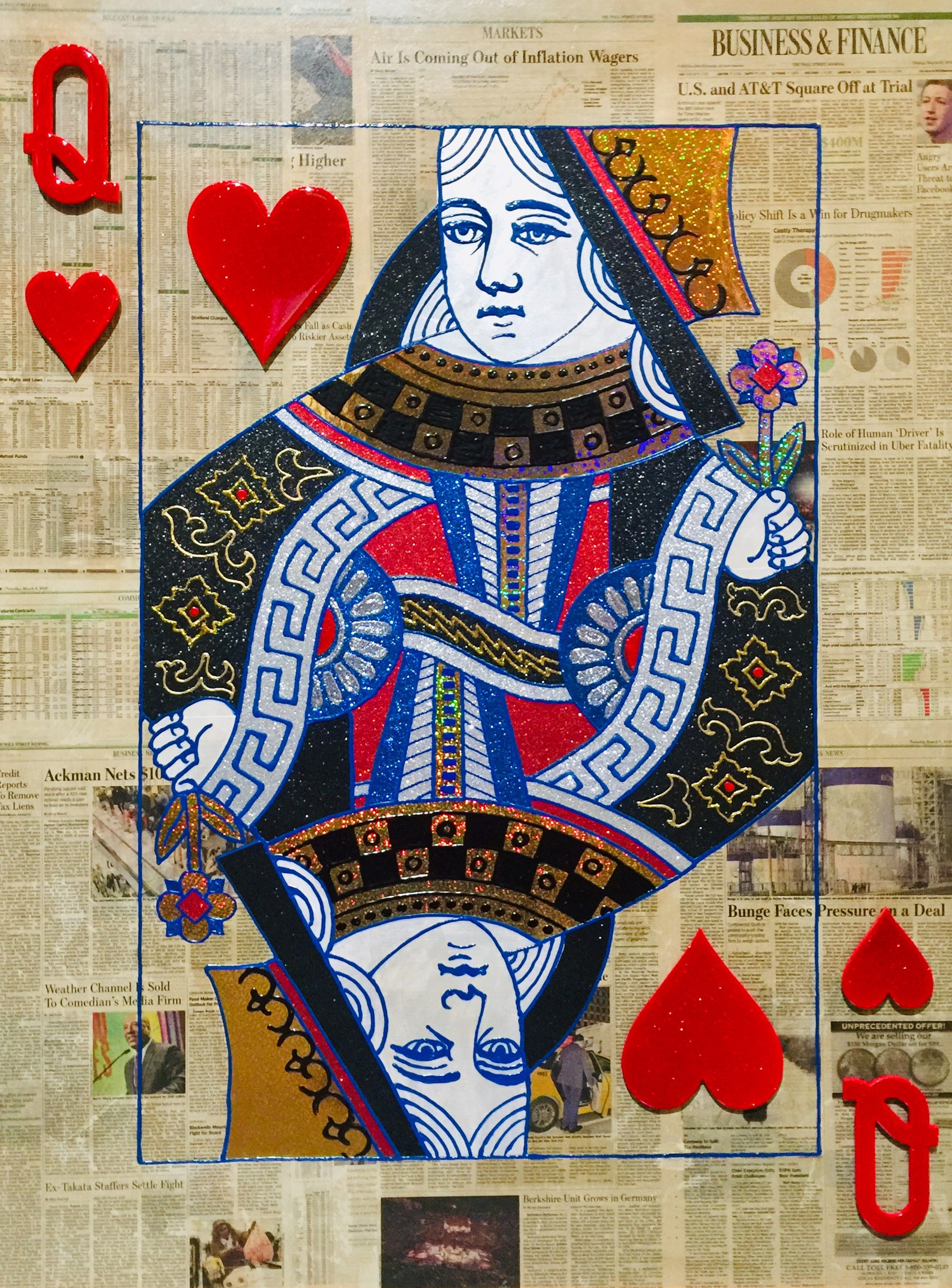Queen of Hearts Wall Street Journal Series by Elena Bulatova