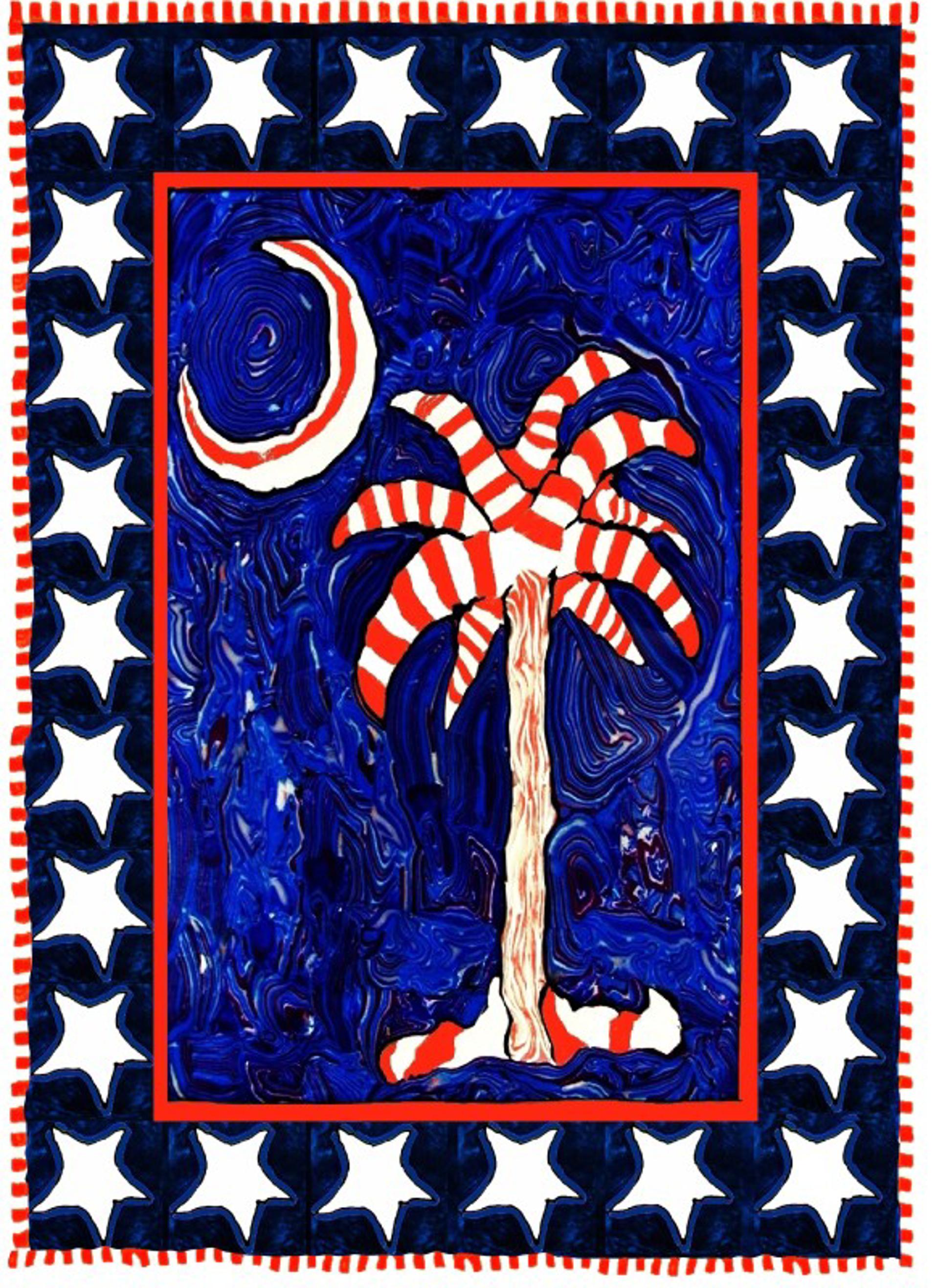 Patriotic Palm by Samantha Long - Prints