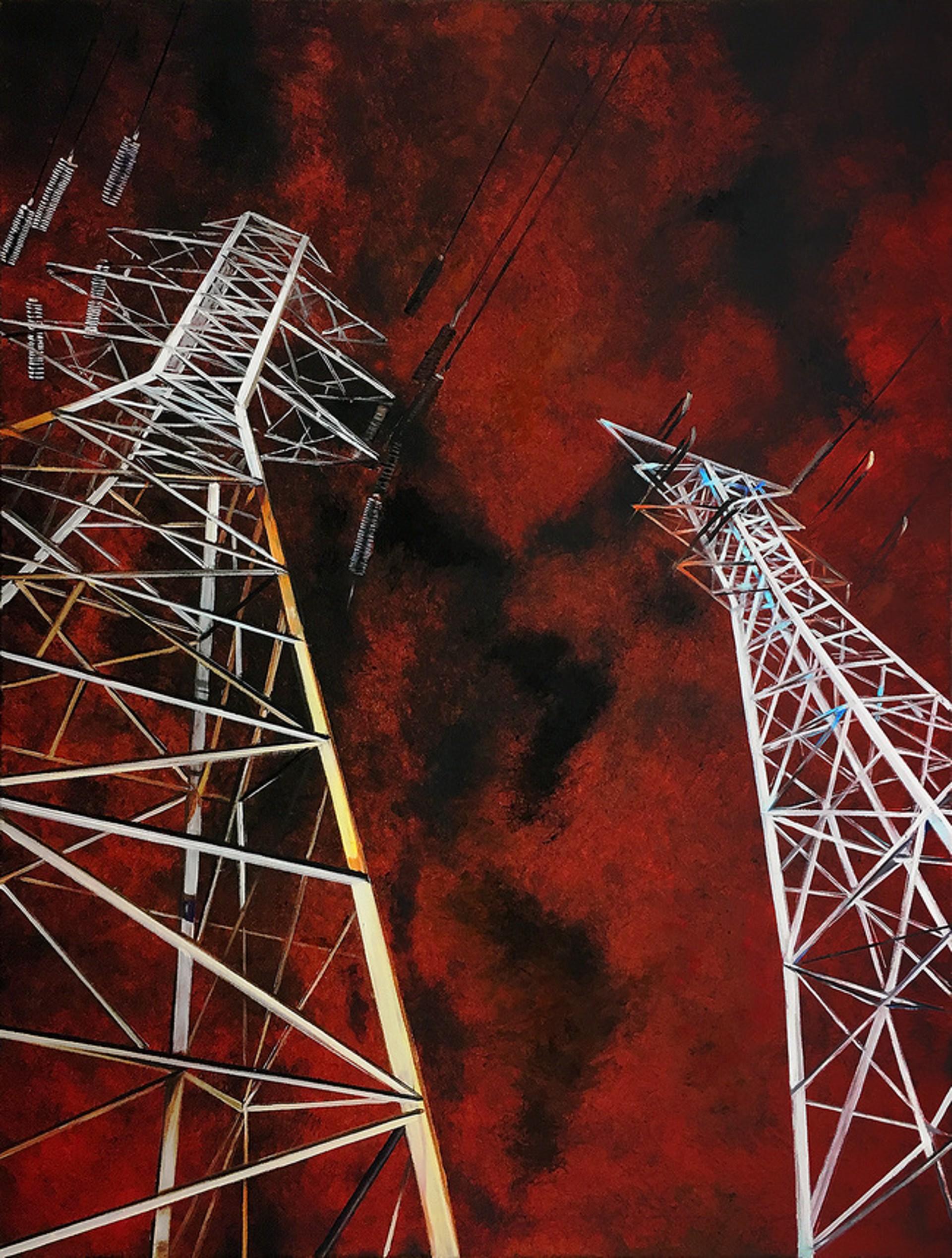 Towers on a Menacing Sky by Allan Gorman
