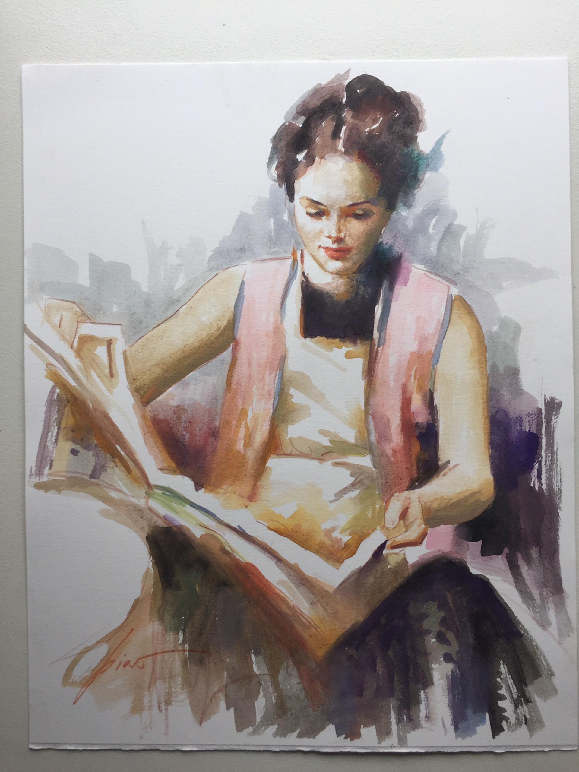 Original Watercolor Release 9 by Pino