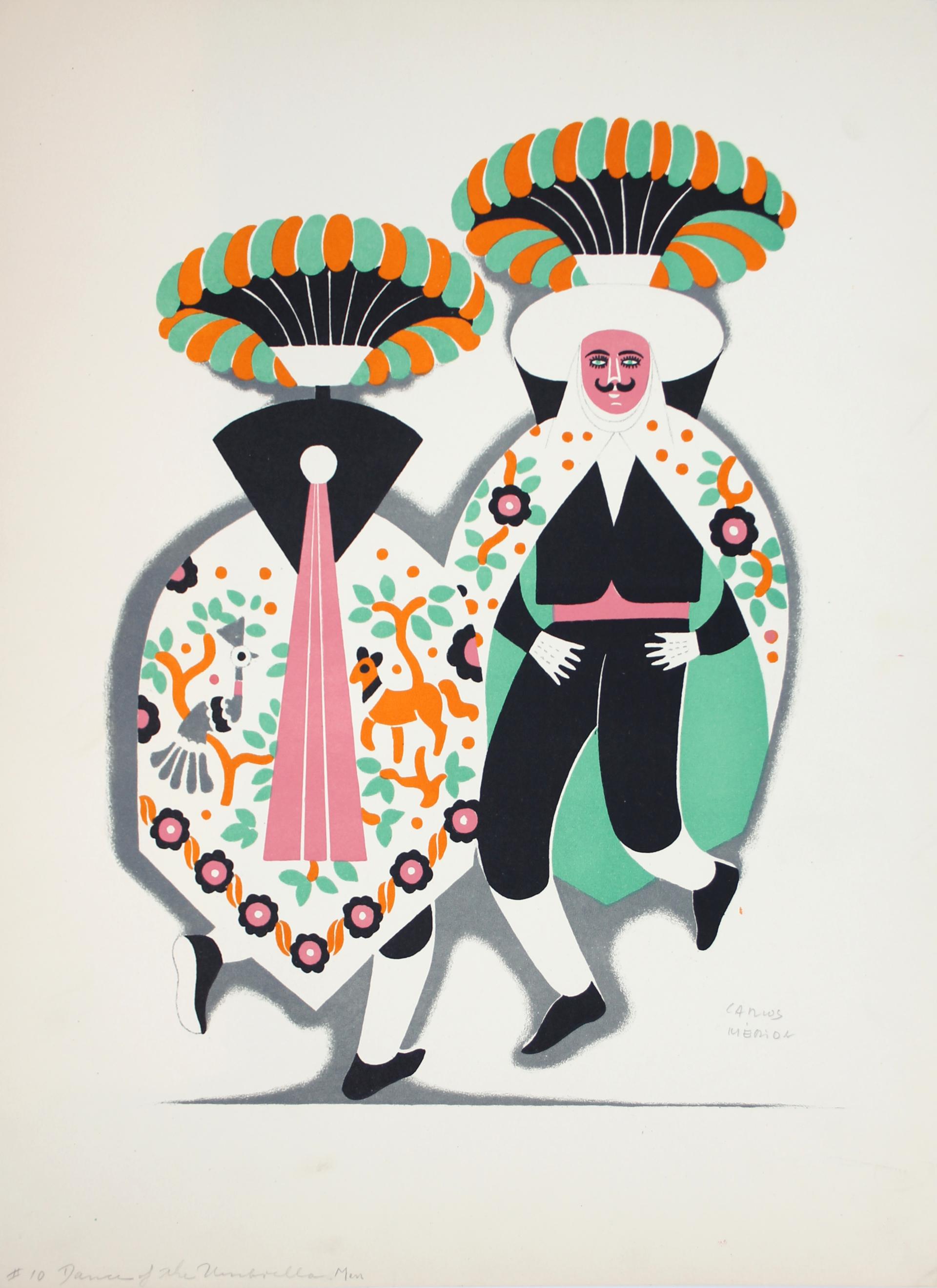 The Umbrella Men by Carlos Mérida (1891 - 1985)