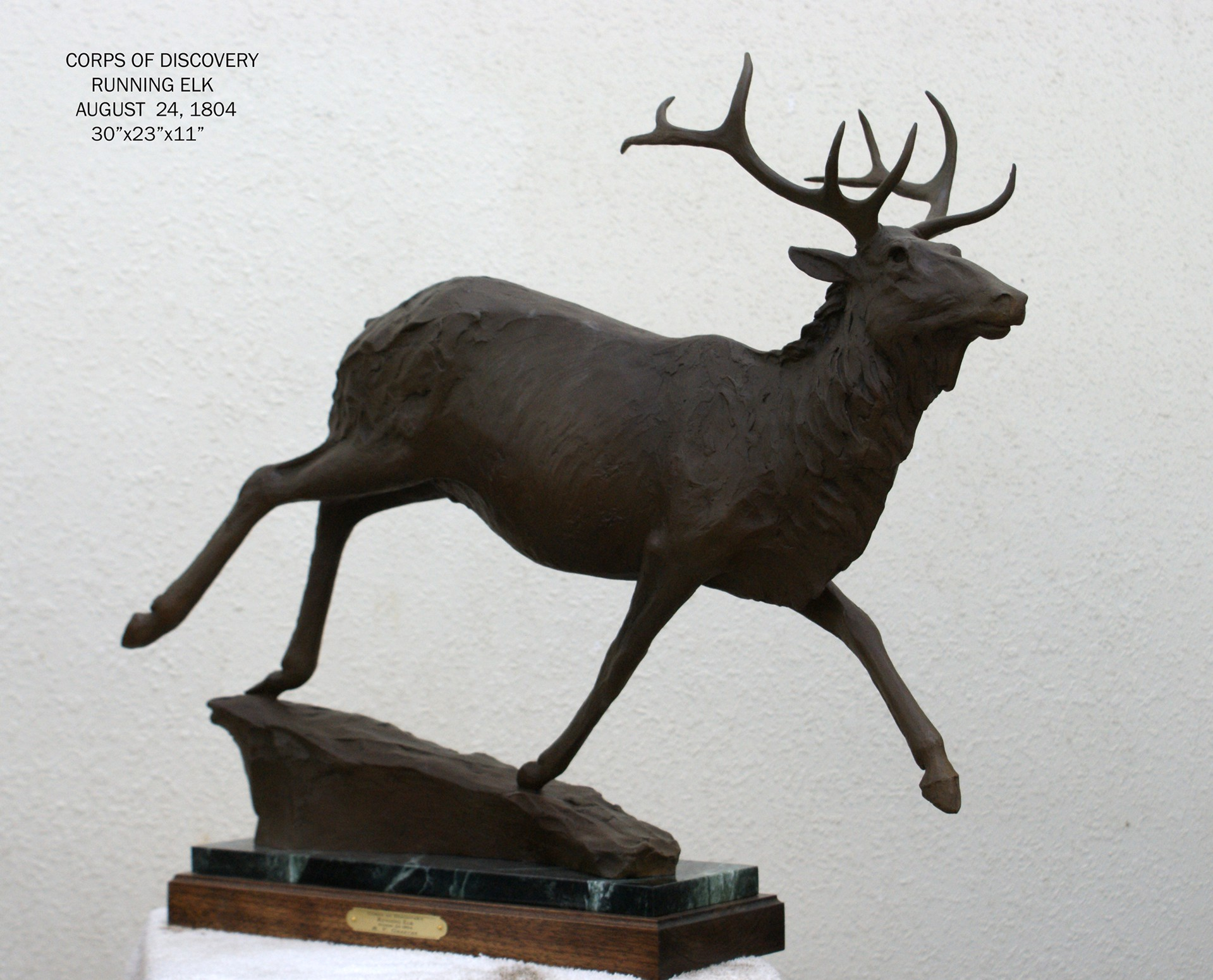 Running Elk by Richard Greeves