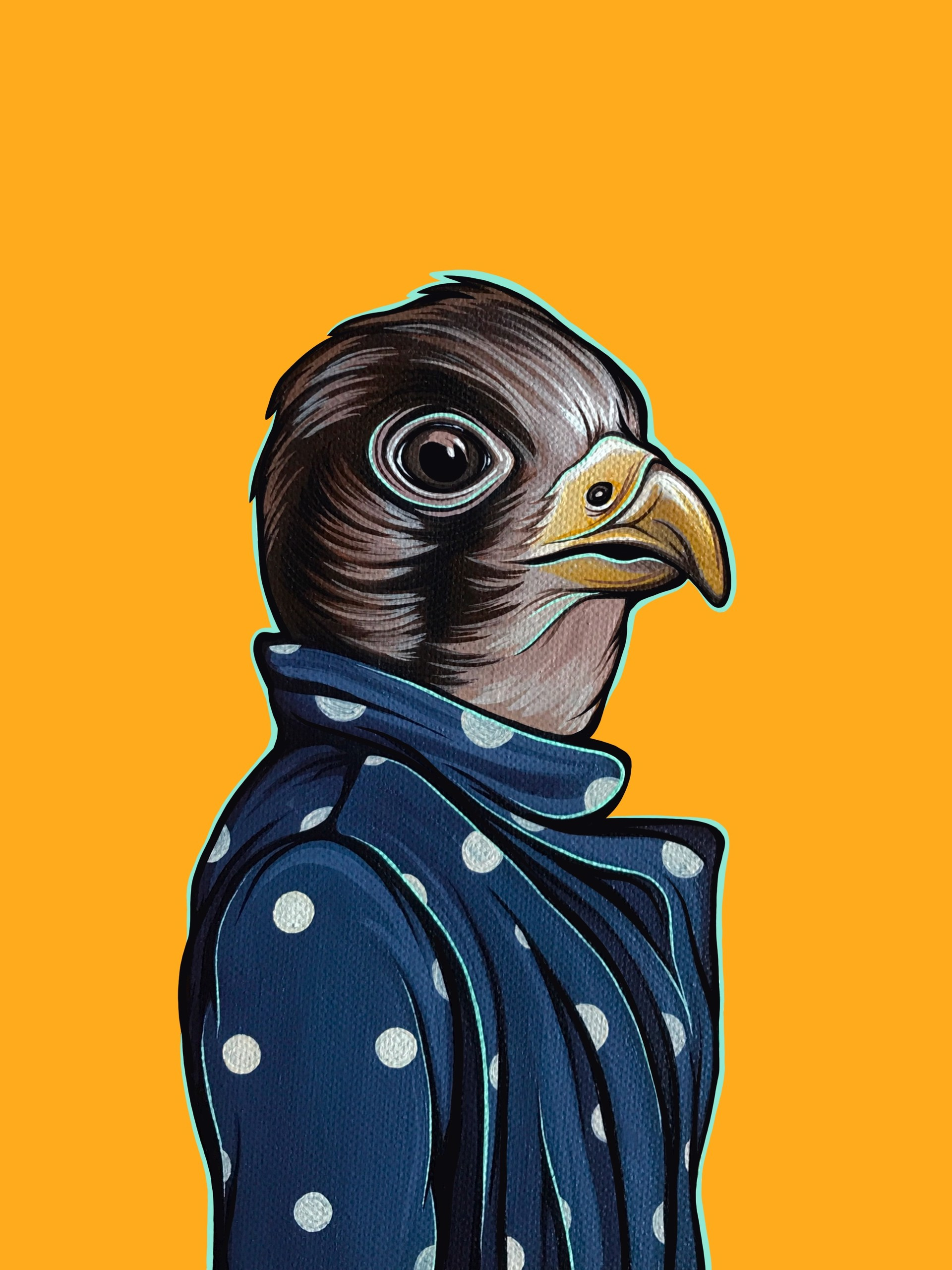 Bird in Your Mom's Coat Falcon by Kaitlin Ziesmer