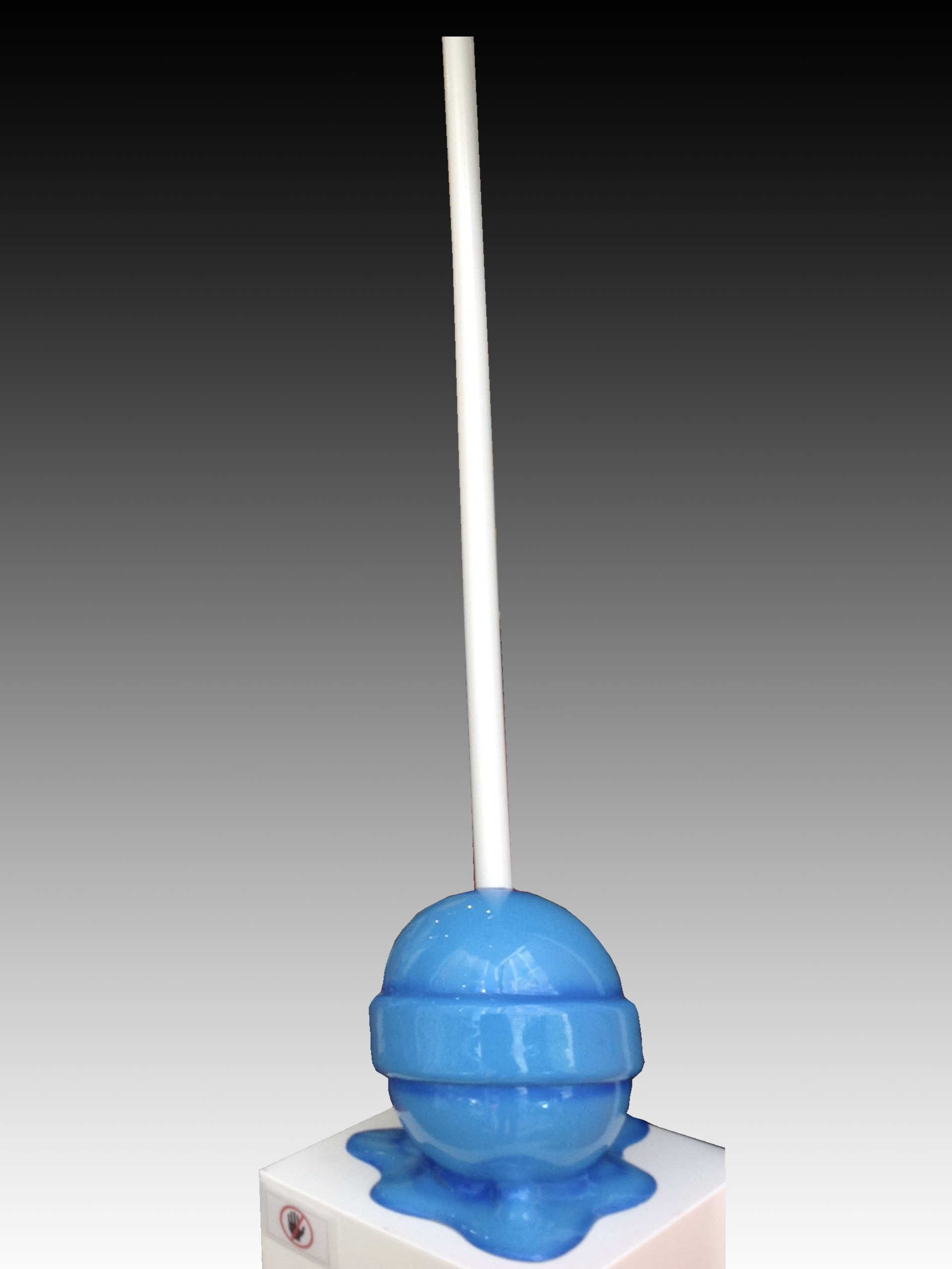 """The Sweet life"" Medium Blue Puddle lollipop by Elena Bulatova"