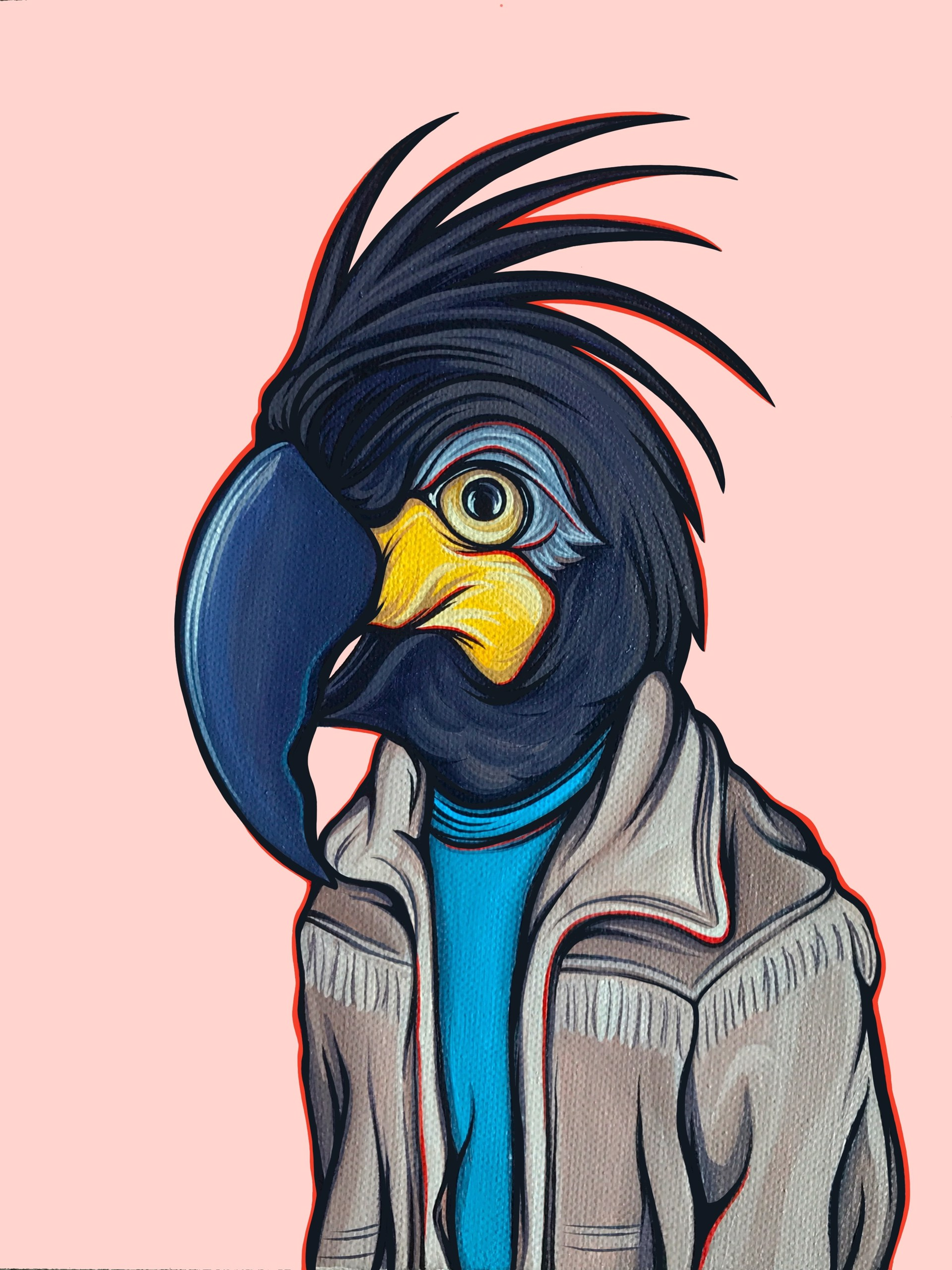 Bird in Your Dad's Coat Toucan by Kaitlin Ziesmer