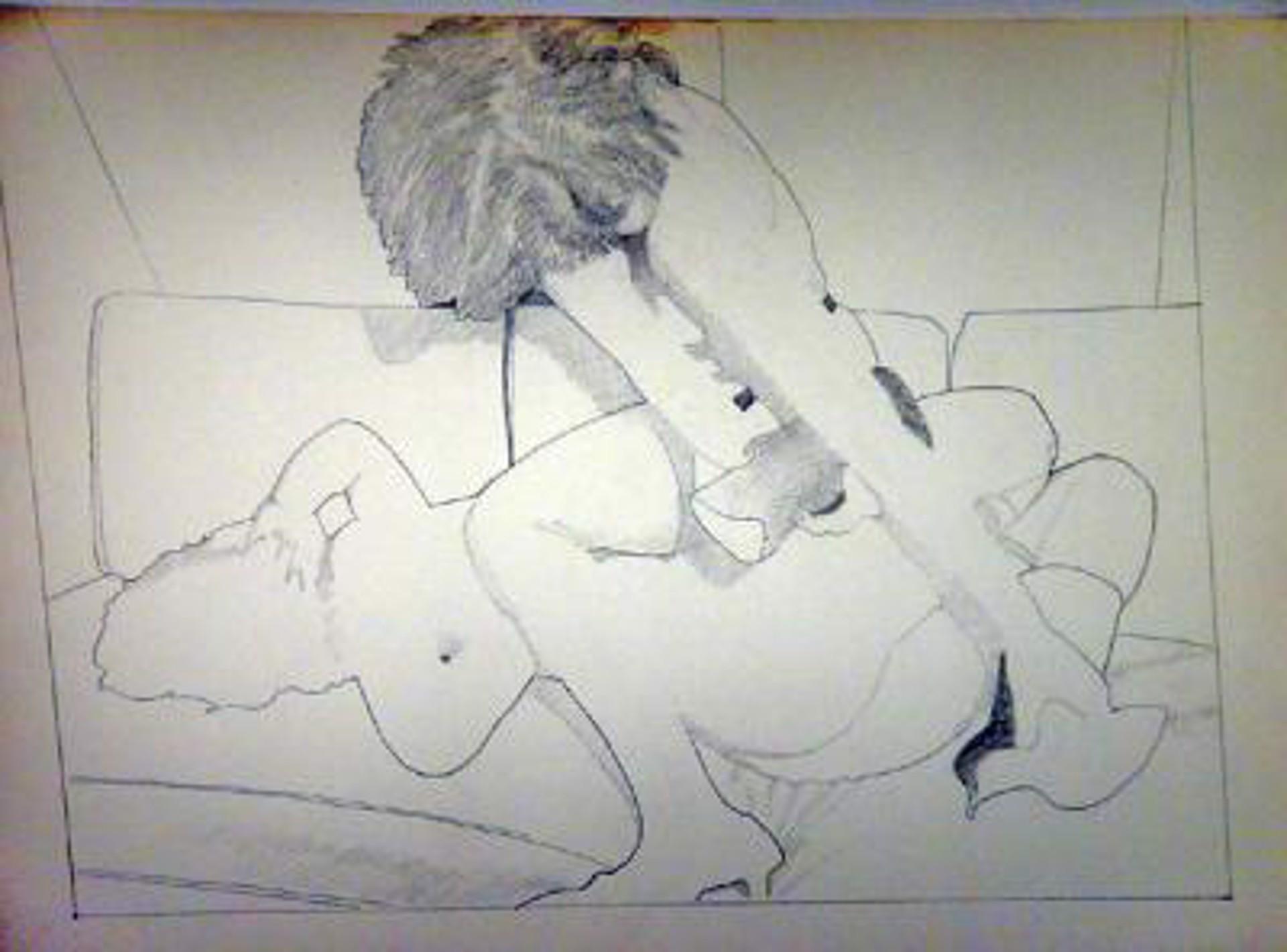 Two Girls Wrestling by David Chapin