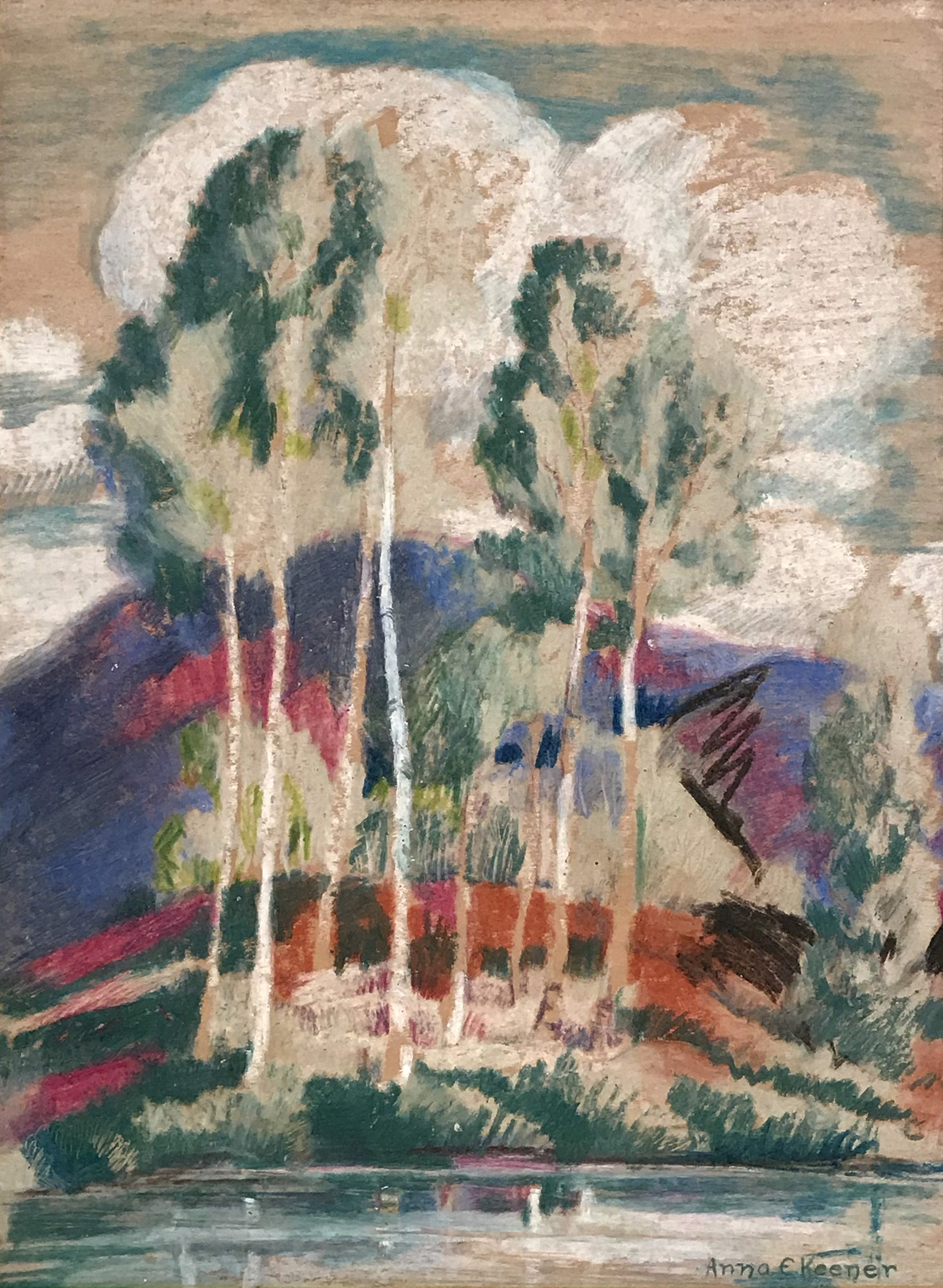 Untitled, Trees Across the Water by Anna Keener