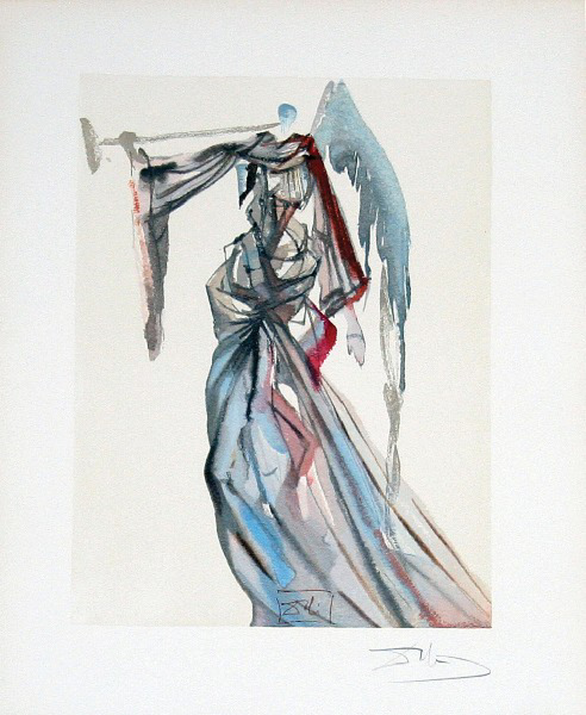Paradise Canto 10: The Angel of the Sun from The Divine Comedy by Salvador Dali (1904 - 1989)