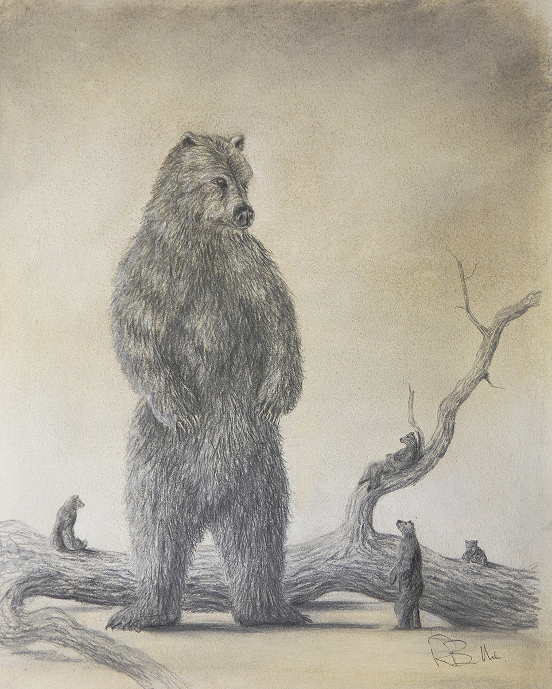 Sketch For Visitor by Robert Bissell